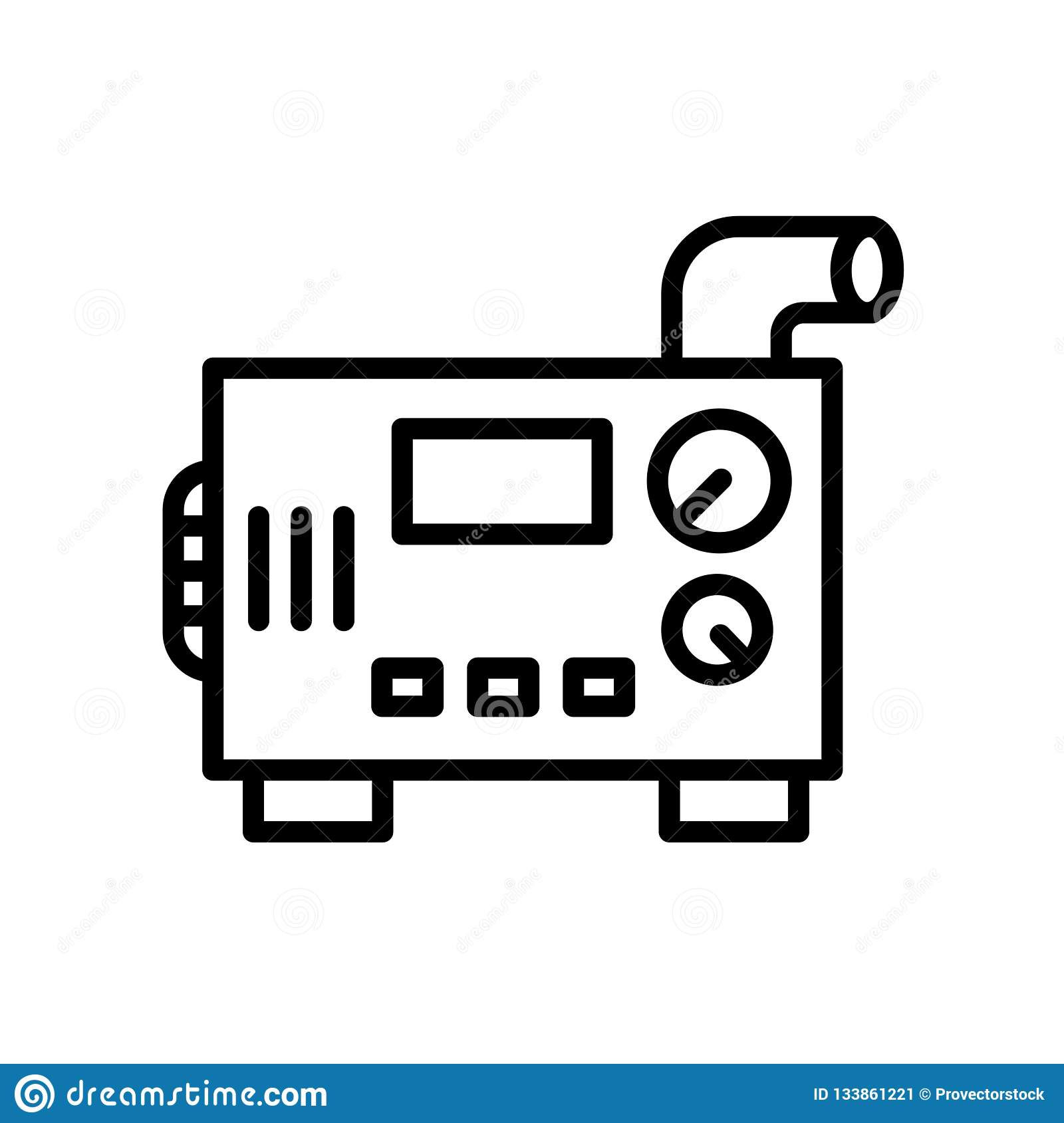 Diesel Generator Icon Isolated On White Background Stock Vector