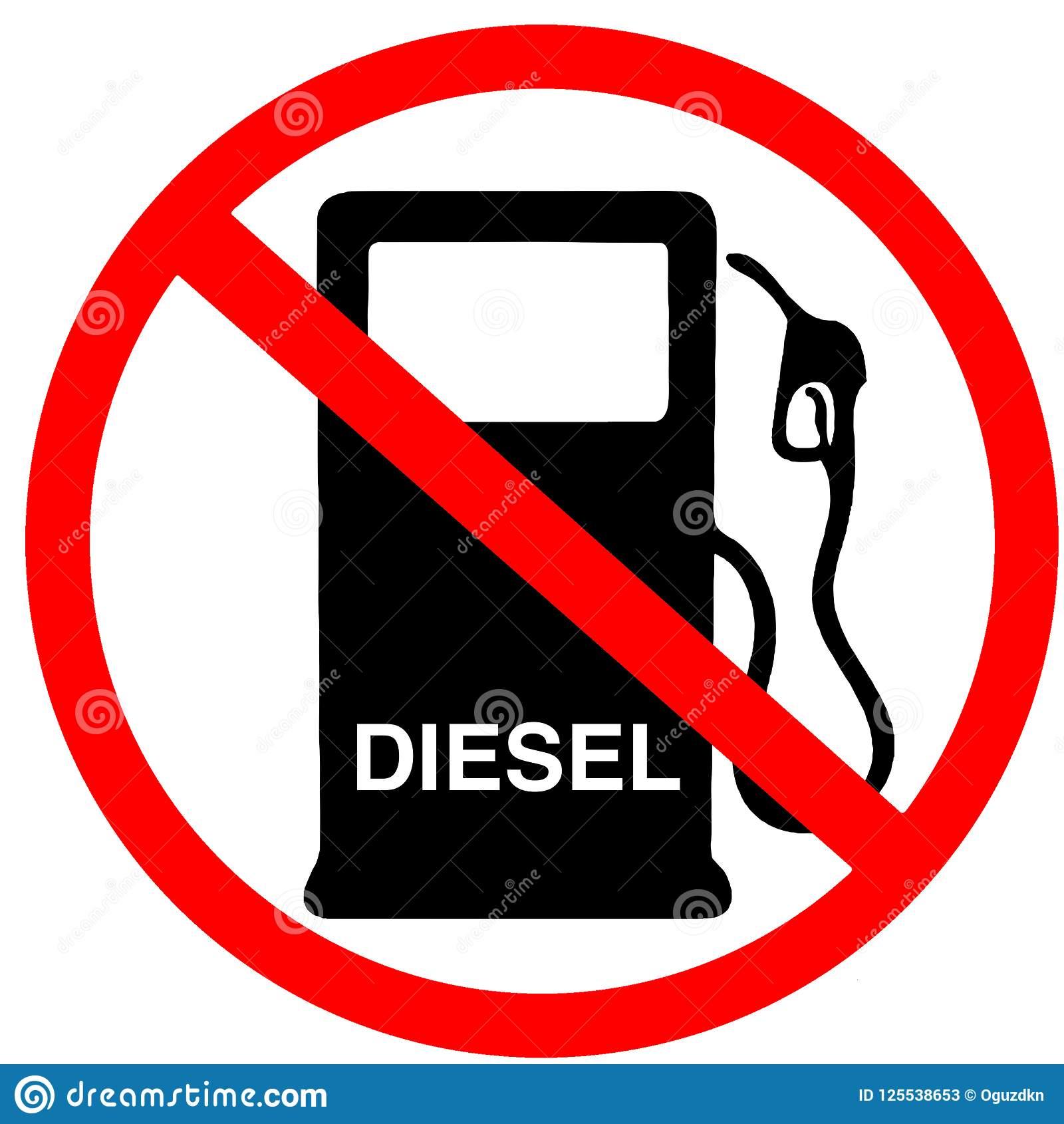 Diesel not in sale not allowed to buy diesel fuel gas station prohibition red circular road sign