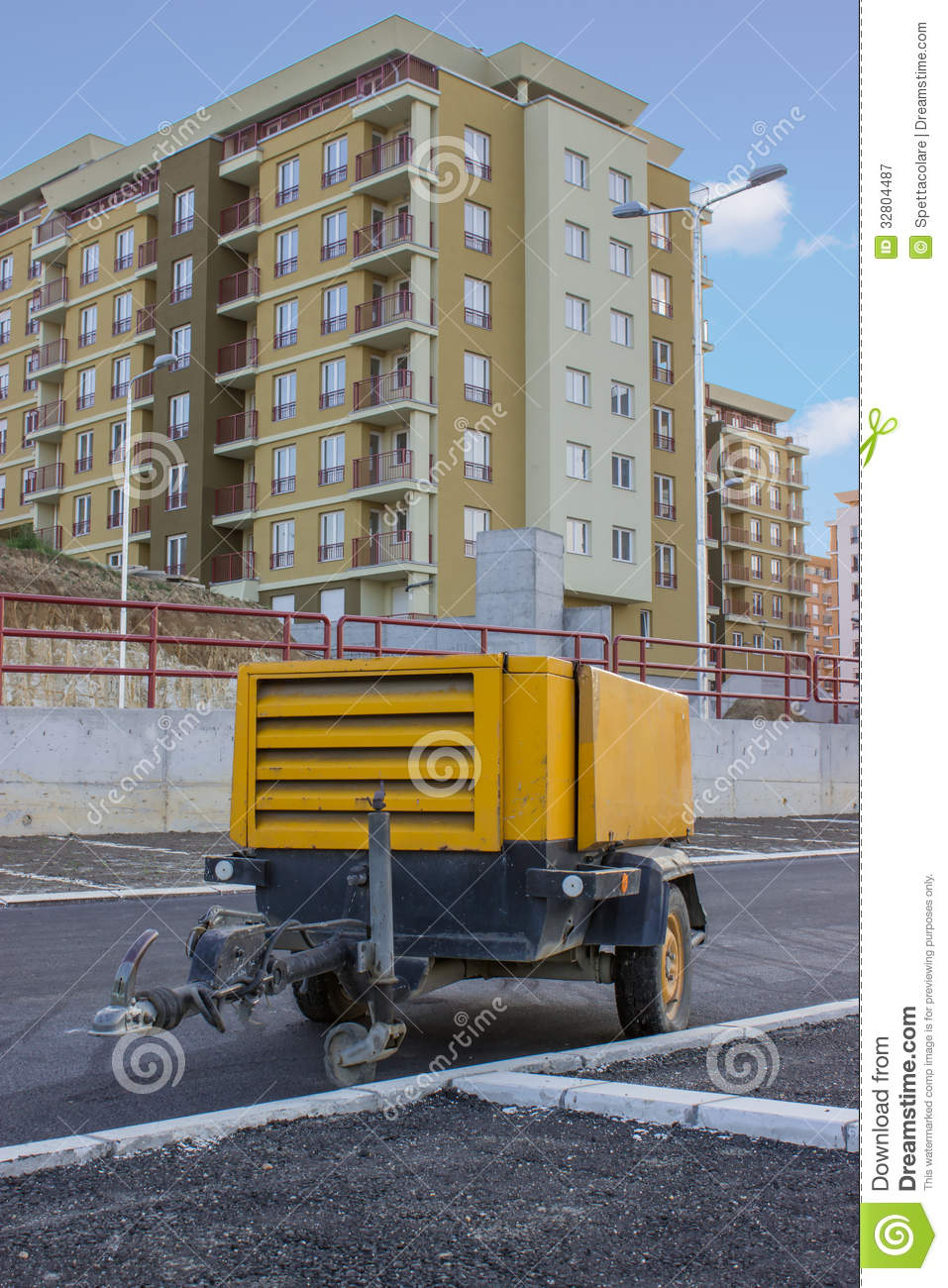 Diesel Generator Room Design: Diesel Portable Compressor Royalty Free Stock Photography