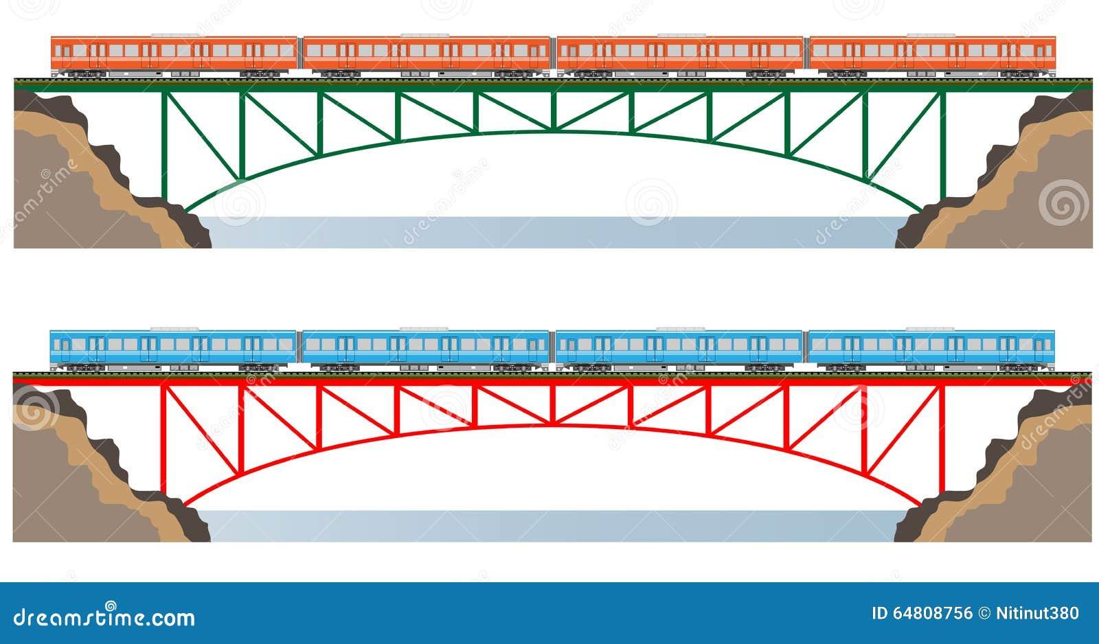 Diesel Railcar Train And Bridge Stock Illustration Illustration Of Cargo Railroad 64808756