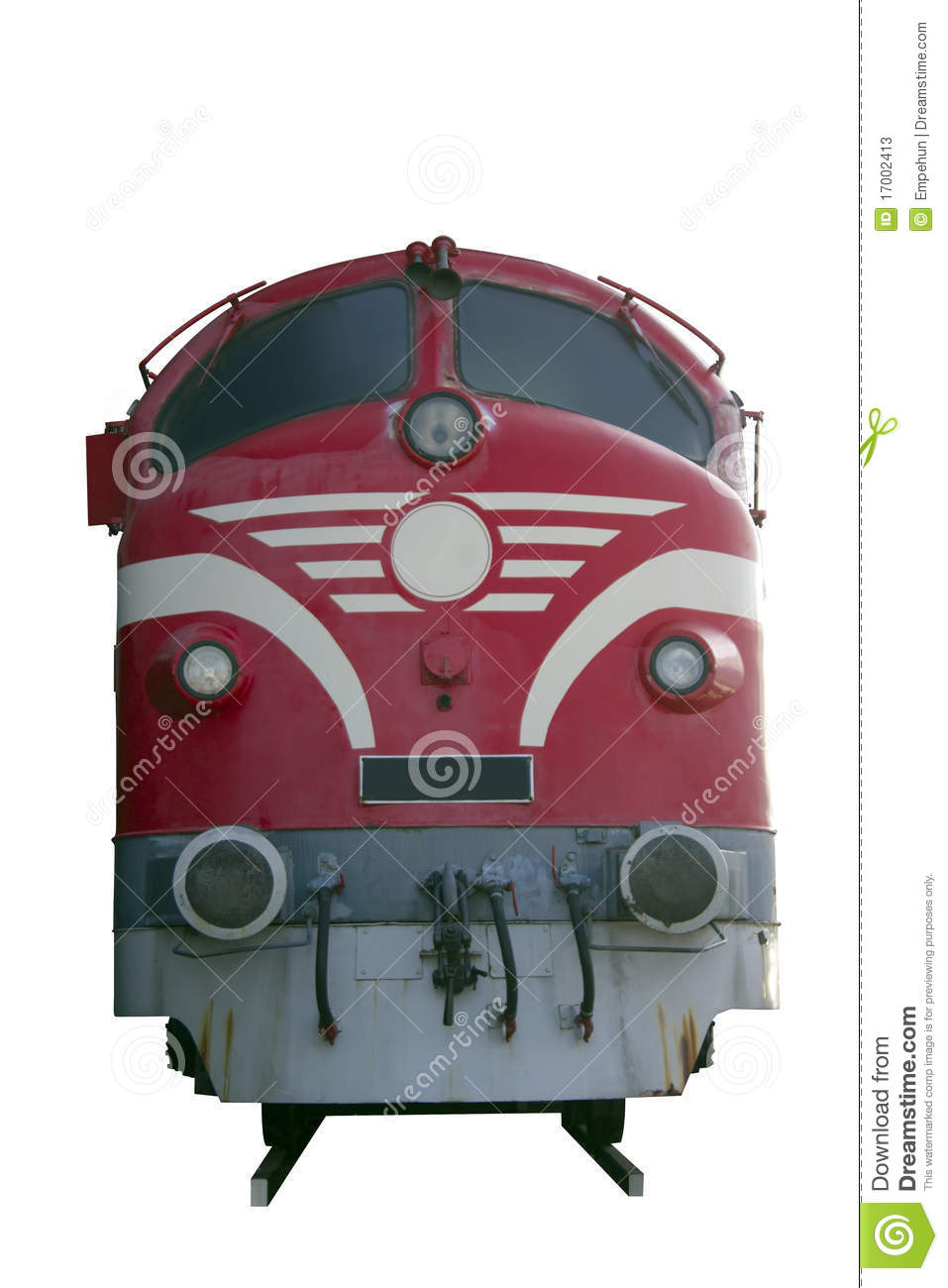 Diesel train engine stock image. Image of power, railway ...