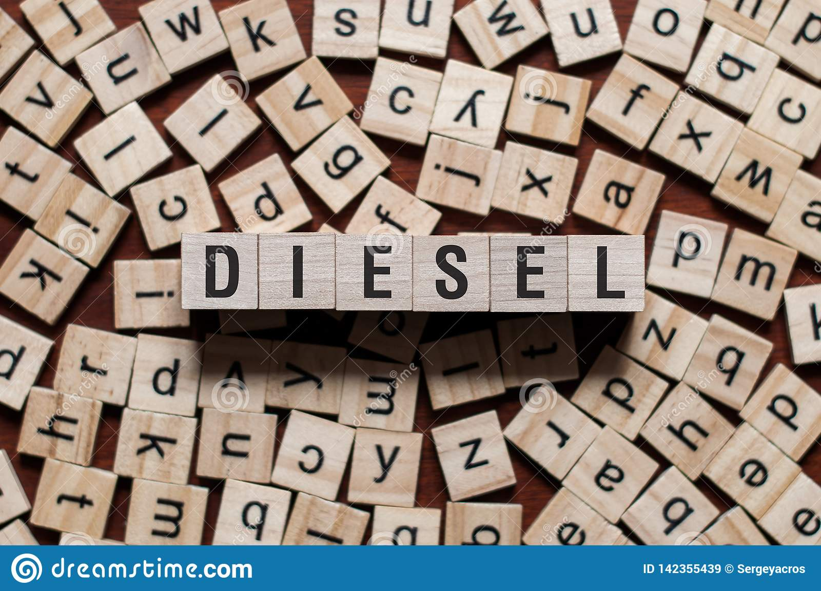 Diesel woordconcept