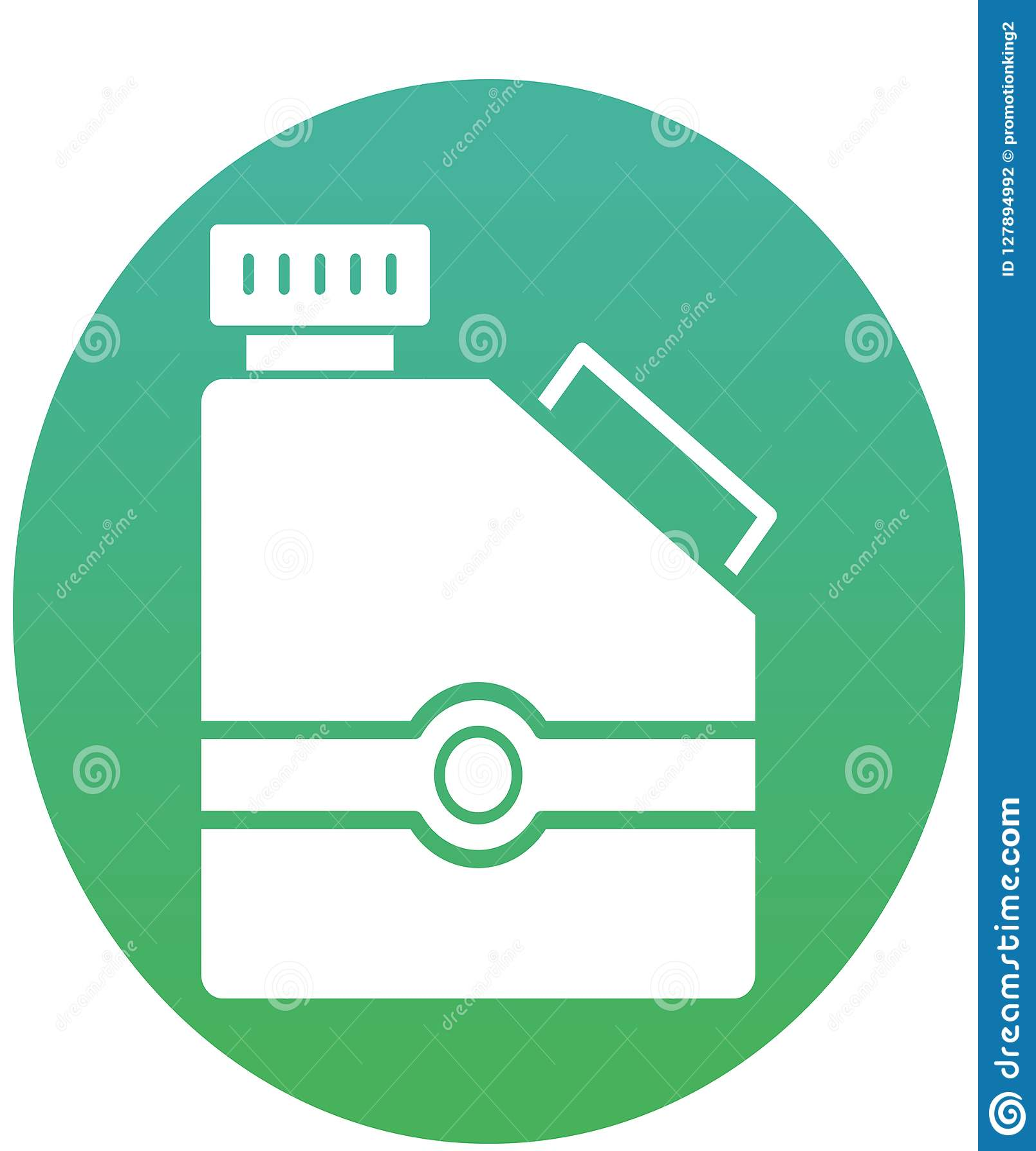 Dieseldose, Gallone lokalisierte Vektor-Ikone kann leicht geändert werden oder redigieren