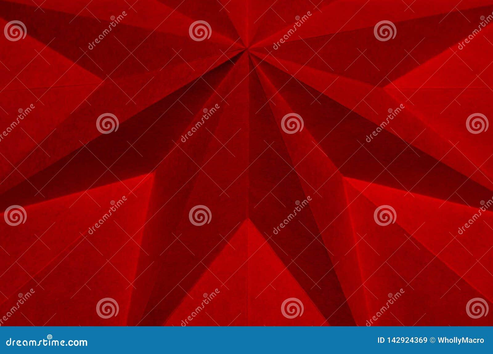 Dieses Bild ist ein Abschluss oben des gefalteten Papiers