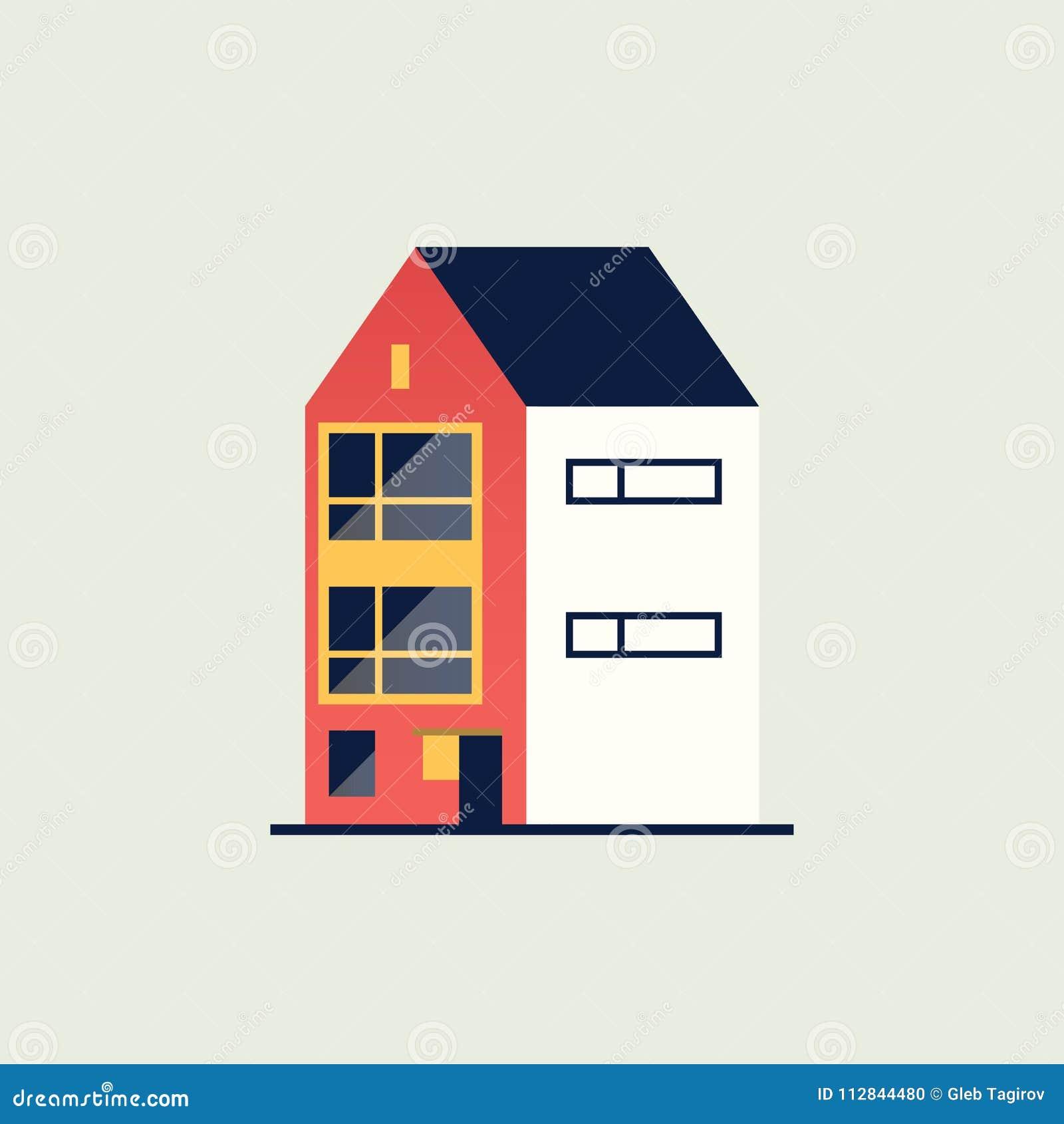 Dieses Ist Datei Des Formats EPS10 Modernes Haus Vr Abbildung ... on