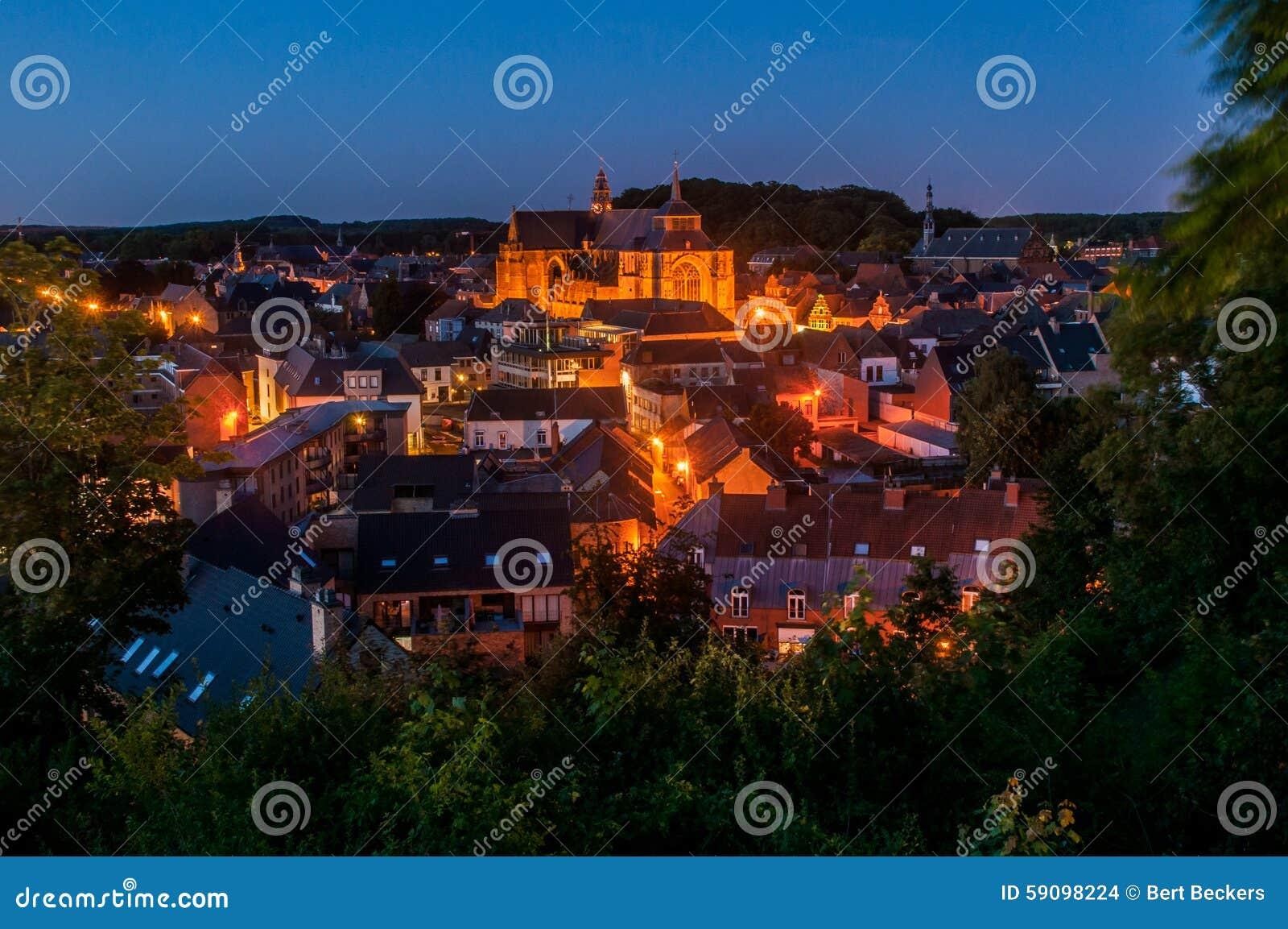 Diest vid natten, Belgien