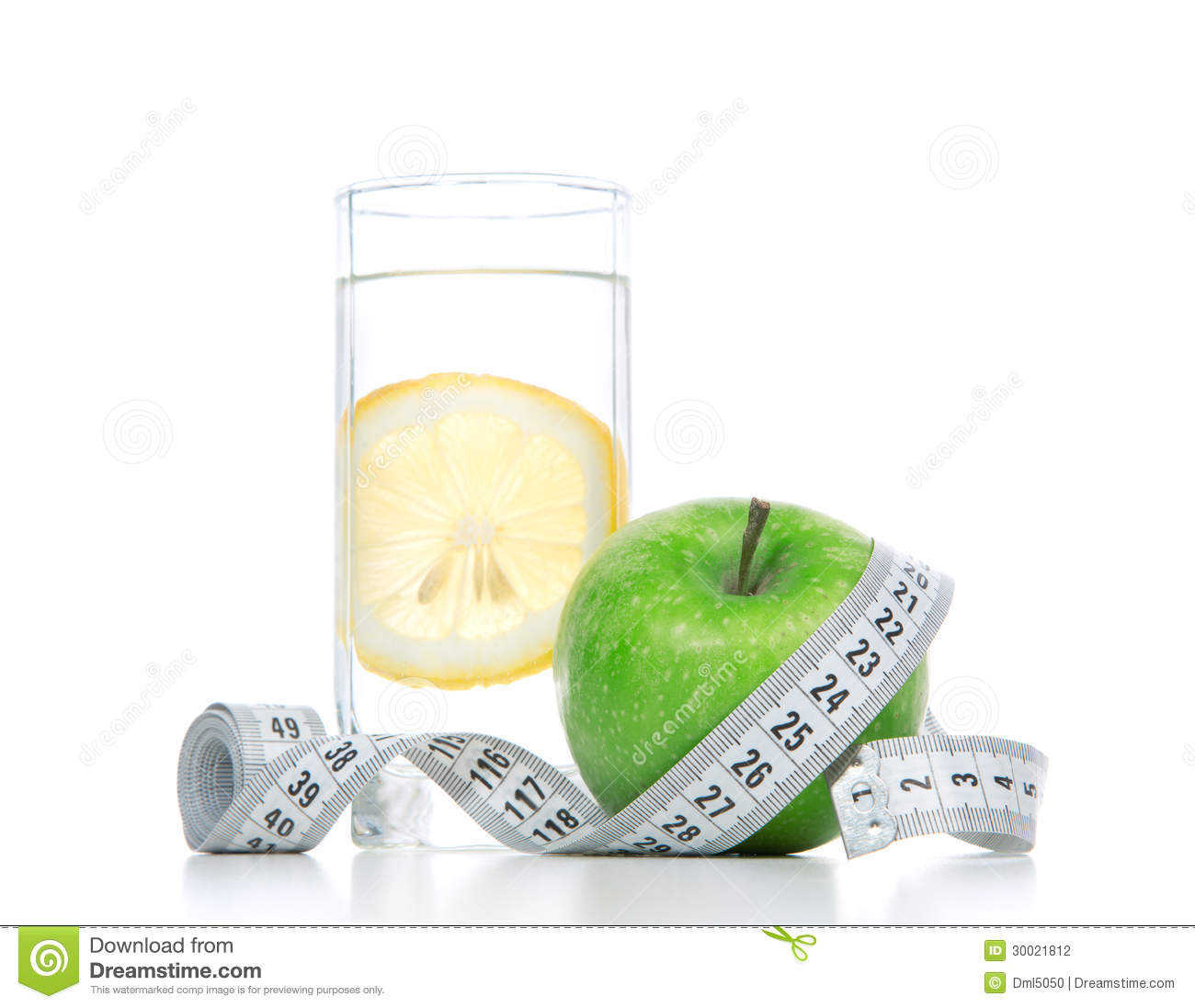 Diet Diabetes Weight Loss Concept With Tape Measure Stock Photography ...