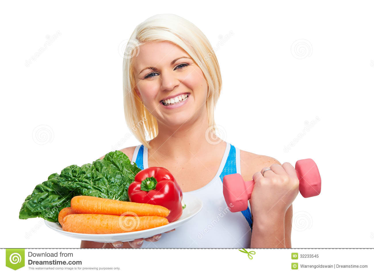 Diet and exercise woman healthy lifestyle concept