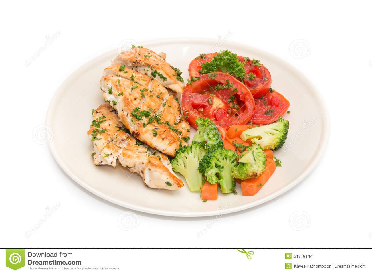 Diet food clean eating chicken steak with grilled vegetables stock photo image 51778144 - Foods never wash cooking ...