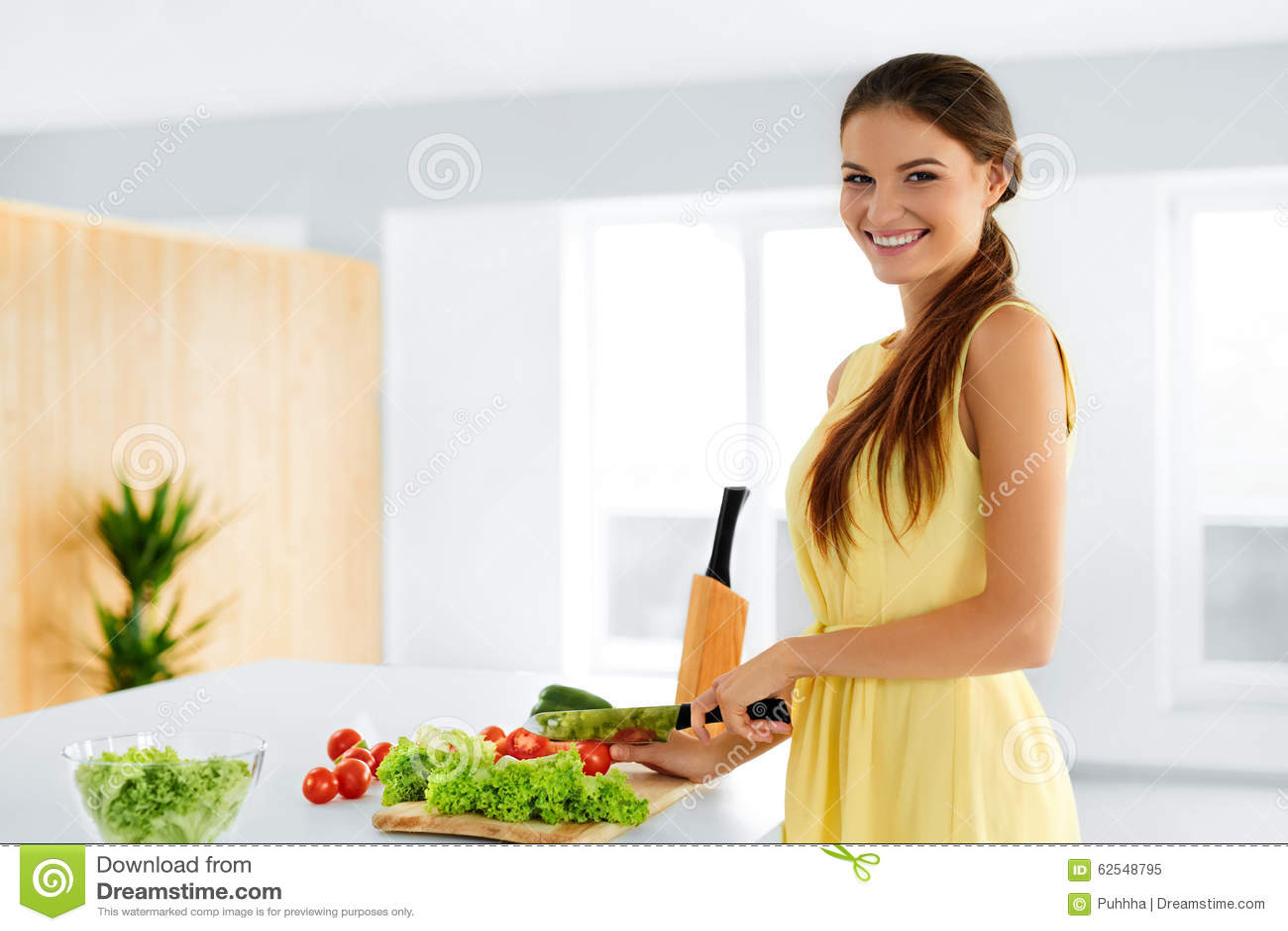 Diet. Healthy Eating Woman Cooking Organic Food. Lifestyle. Prep