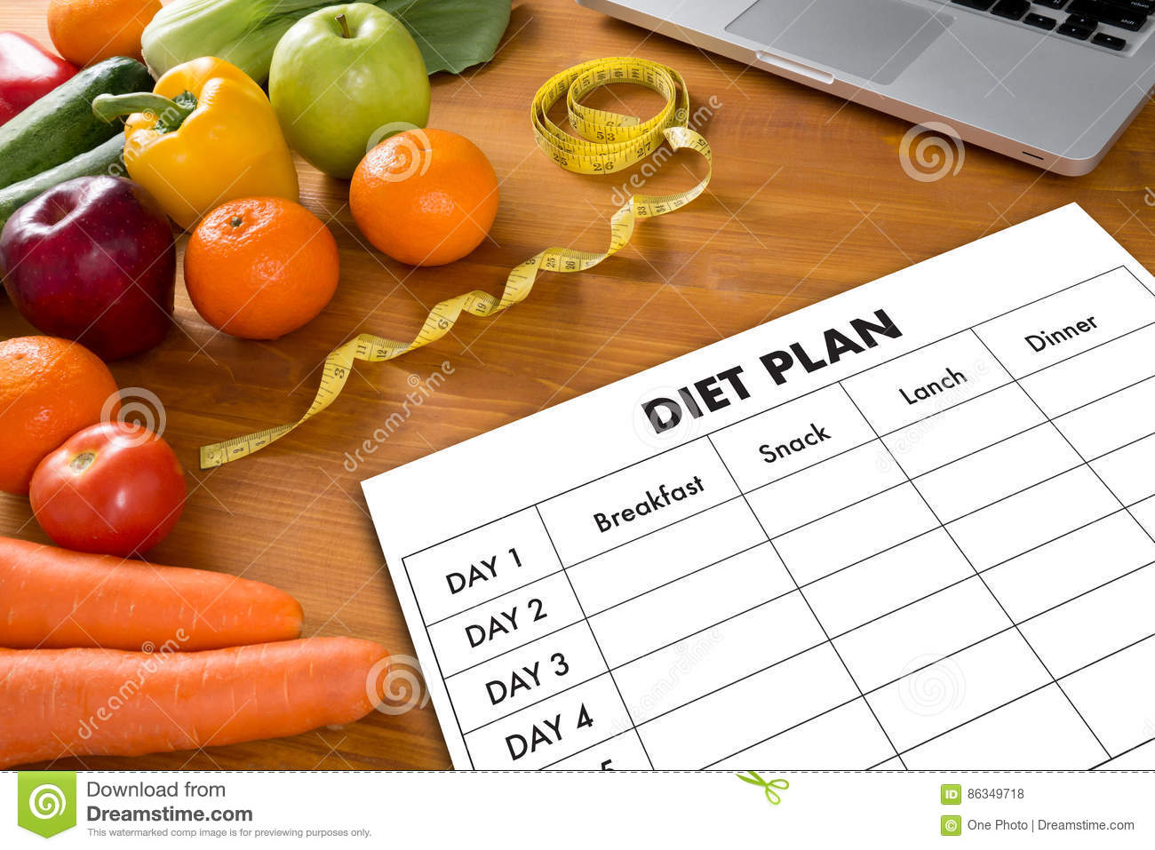 Diet healthy plan slimming
