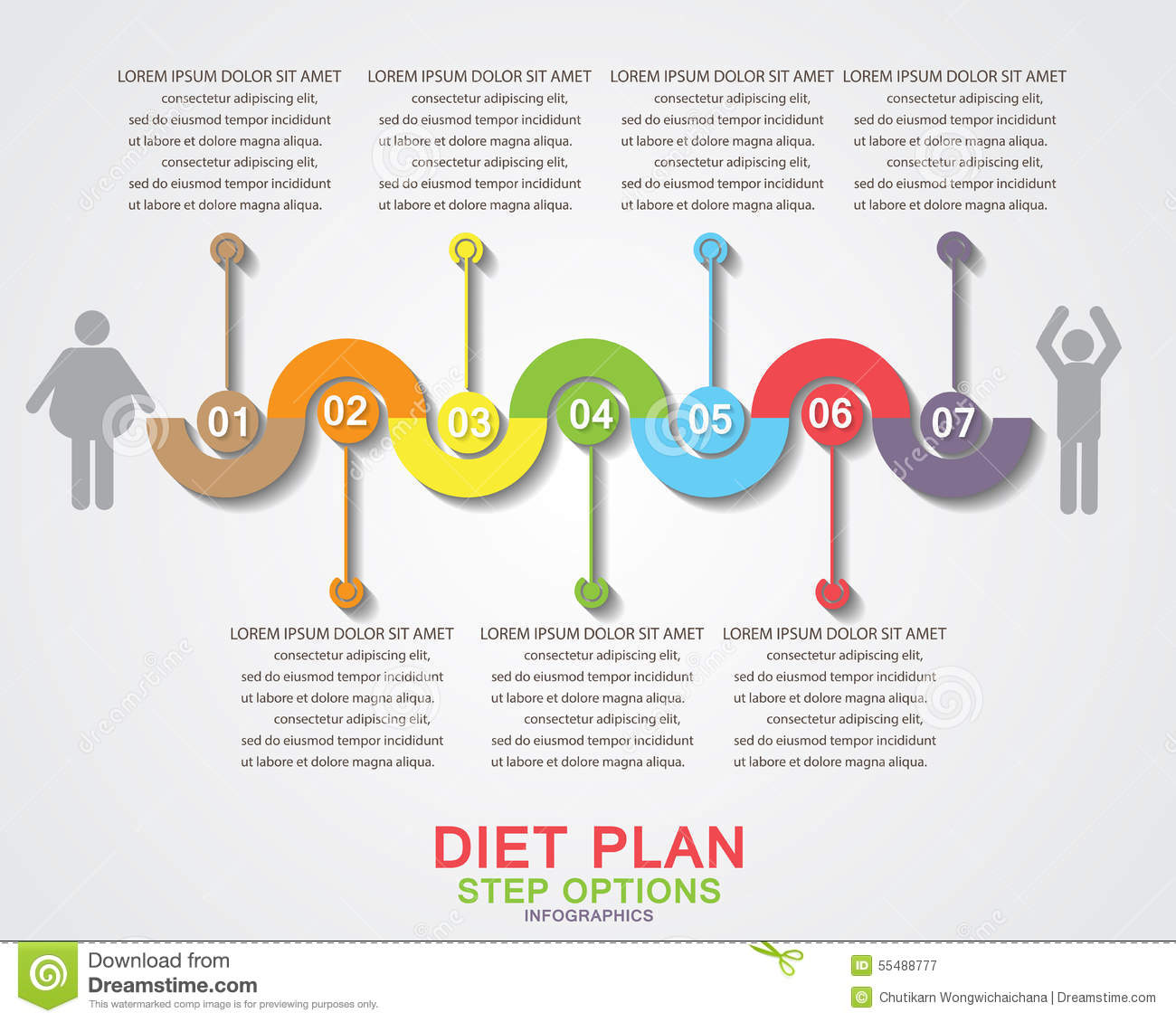 Diet plan infographics stock vector image 55488777 - Business plan for web design company ...