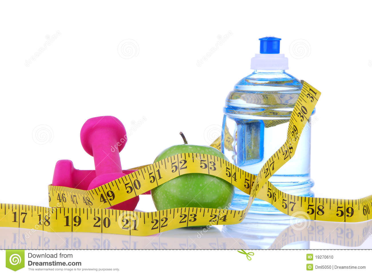 Diet diabetes weight loss concept with tape measure organic green ...