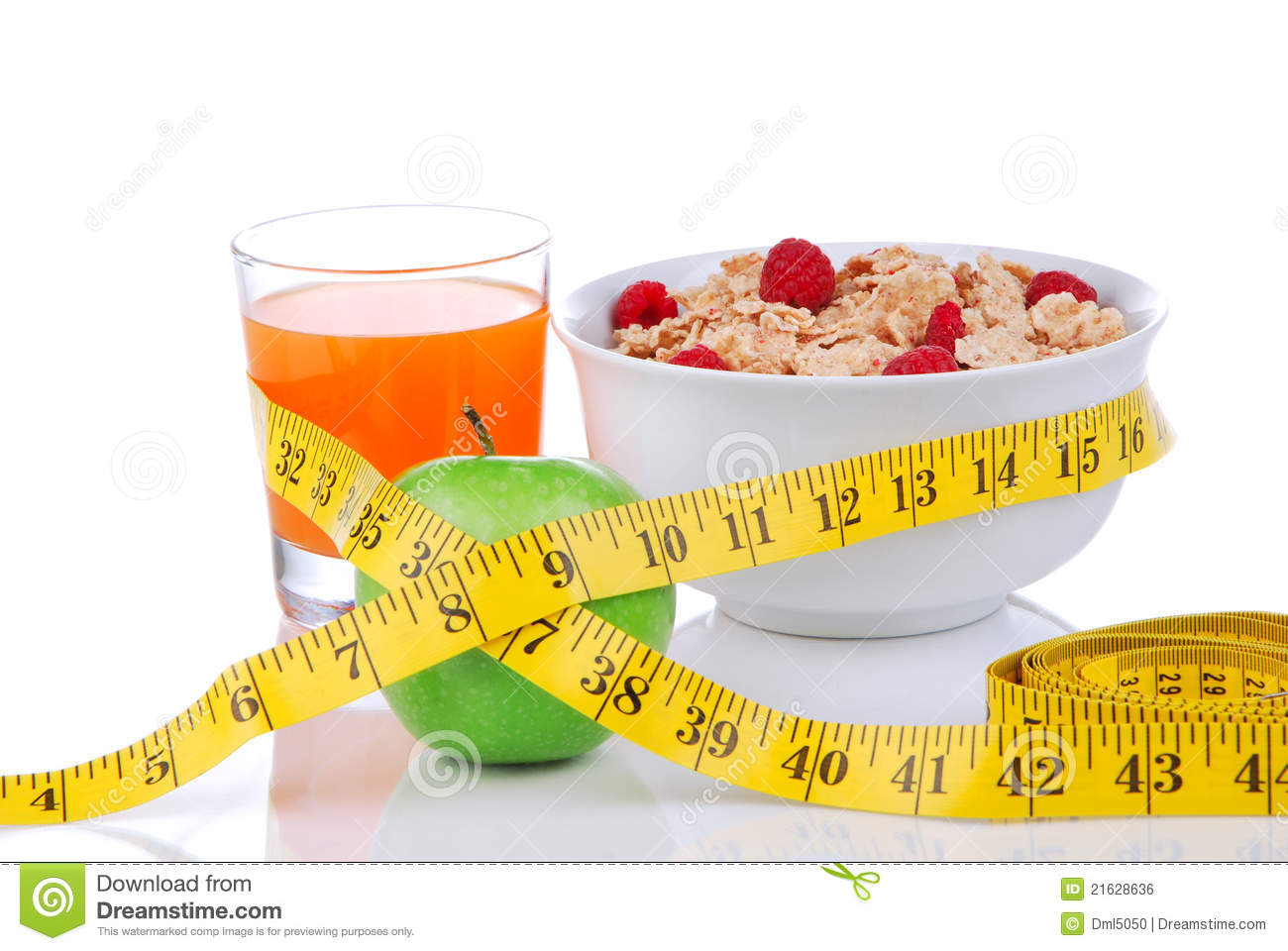 Diet Weight Loss Concept With Tape Measure Apple Royalty Free Stock Image - Image: 21628636