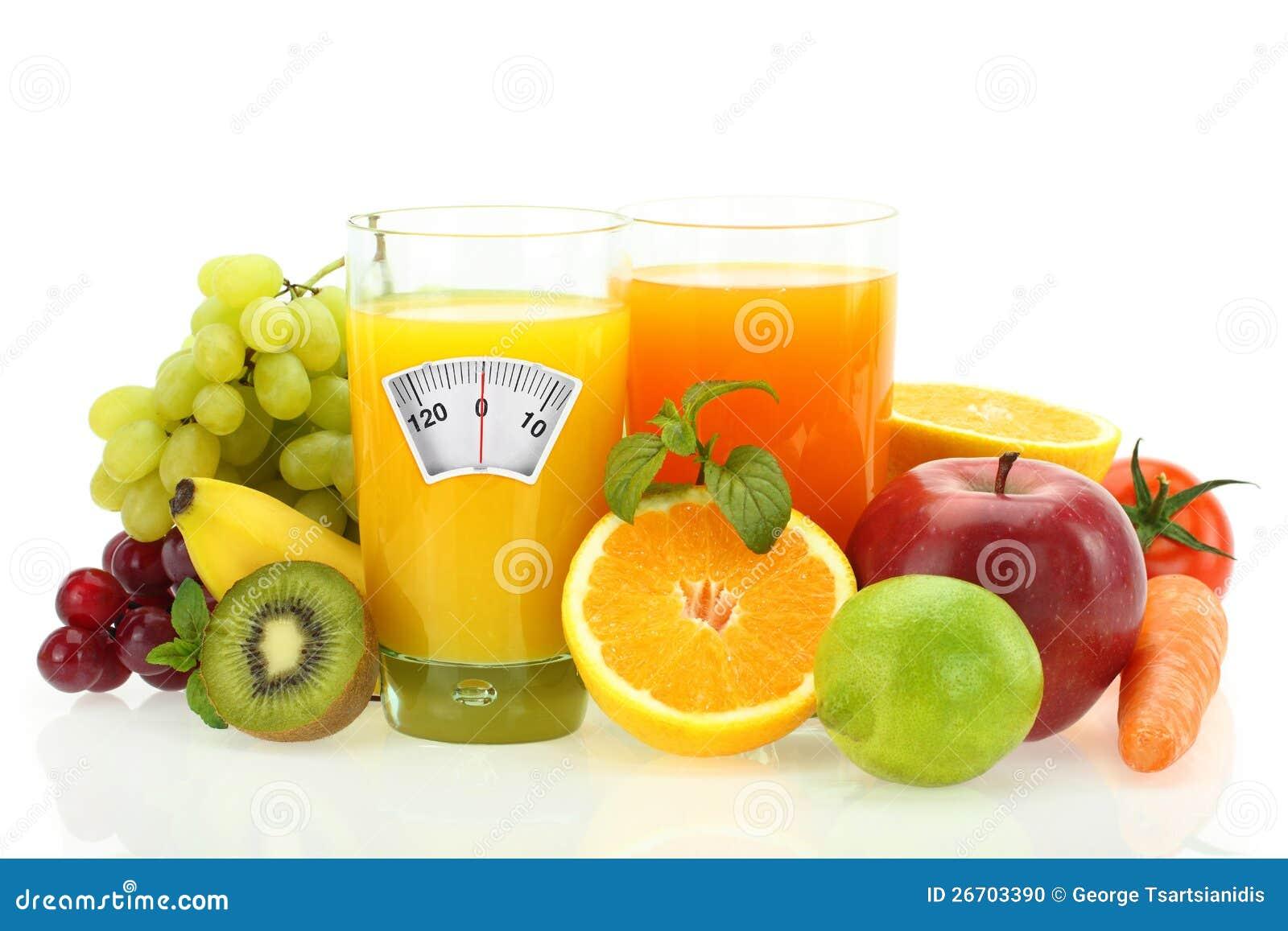 frutas y verduras para una dieta