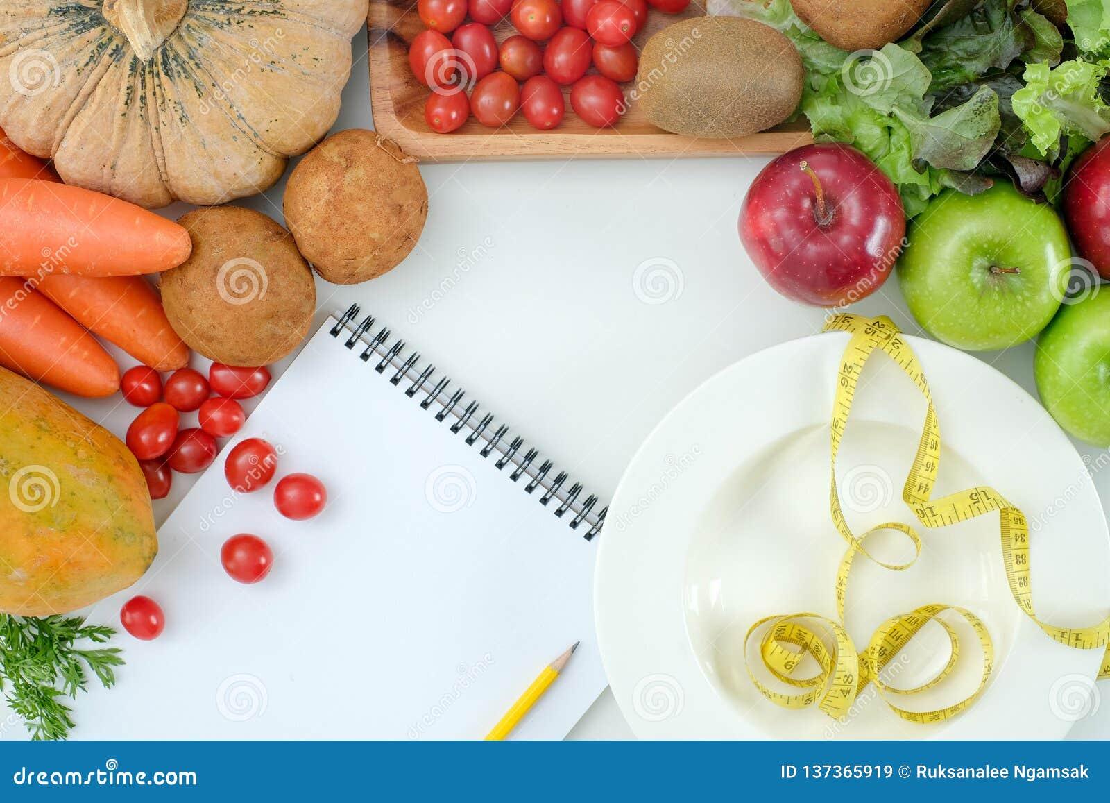 A dieta de alimento saudável pesa a dieta Ketogenic do conceito da perda