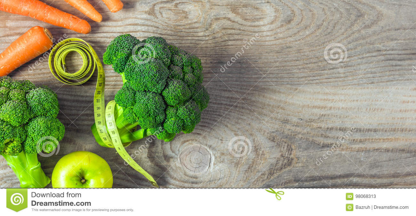 Verduras perdida de peso