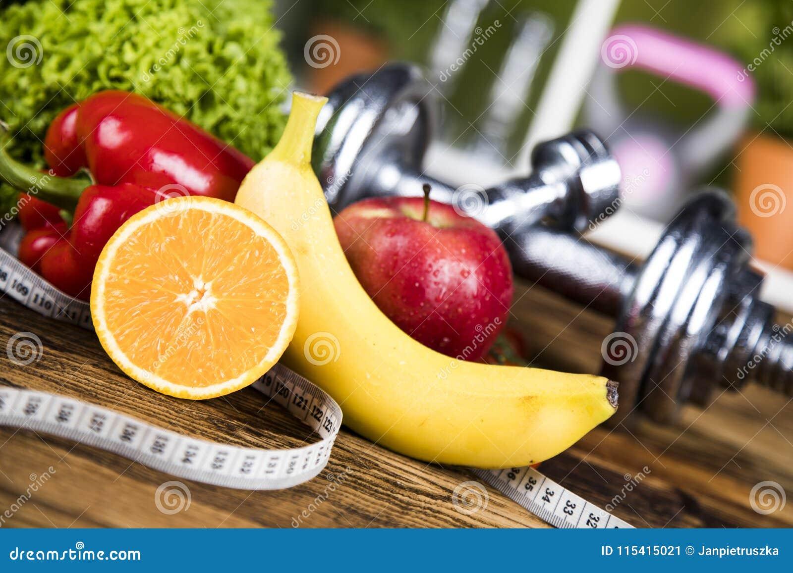 Dieta e aptidão, peso com vitamina
