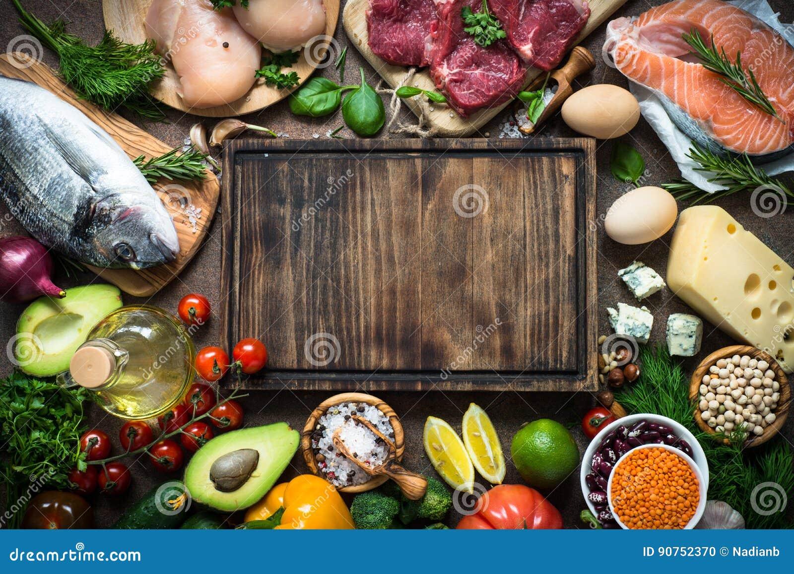 Dieta equilibrada Alimento biológico para la nutrición sana