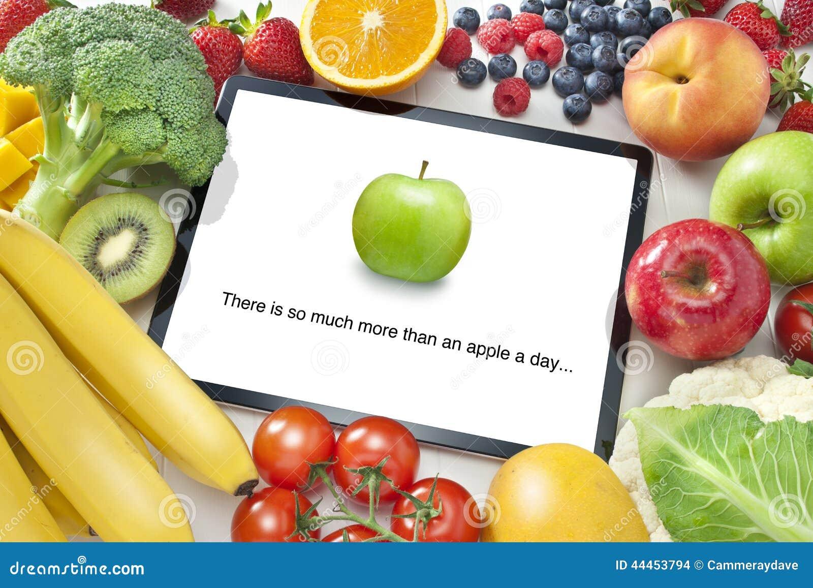 Dieta saudável de vegetais de fruto