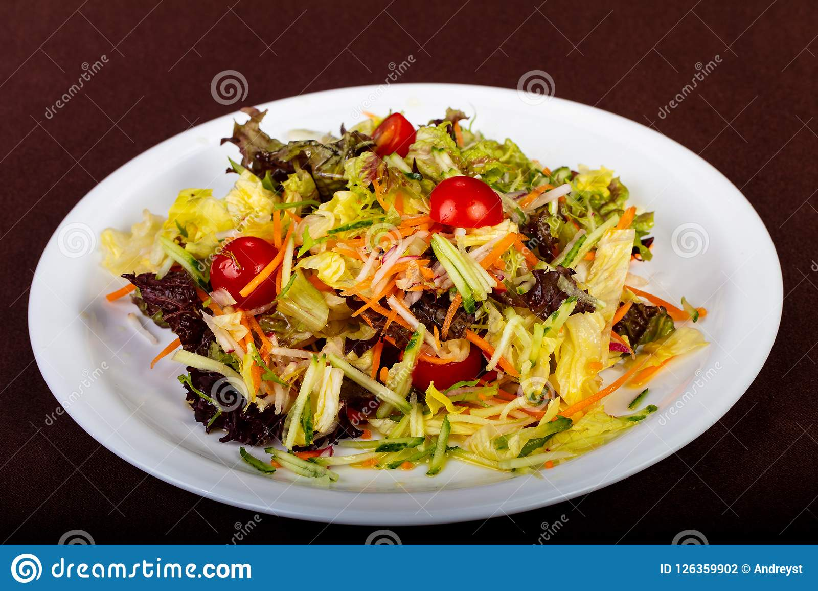 Dietary vegan salad