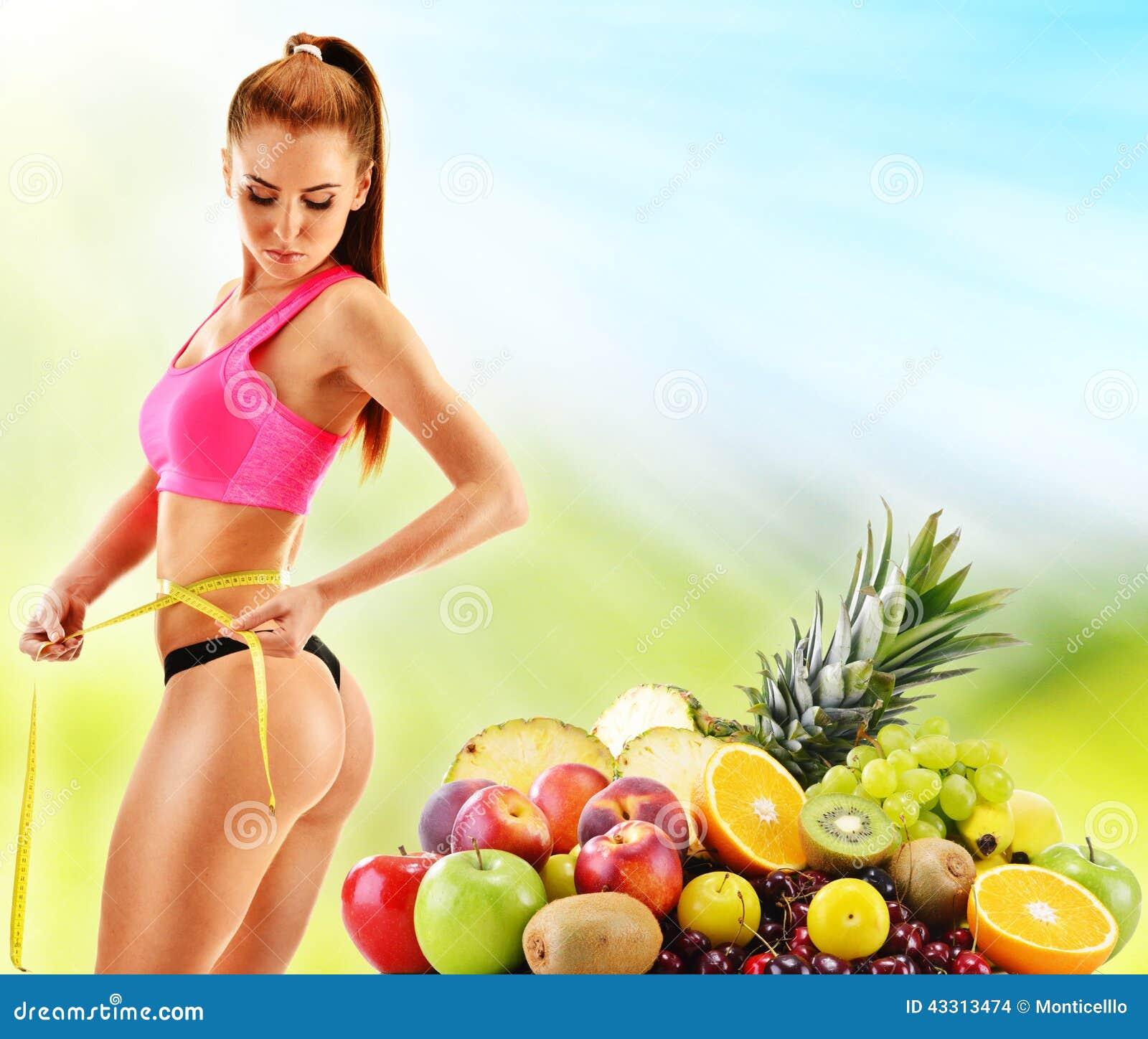 Dieting Dieta equilibrada baseada em vegetais orgânicos crus
