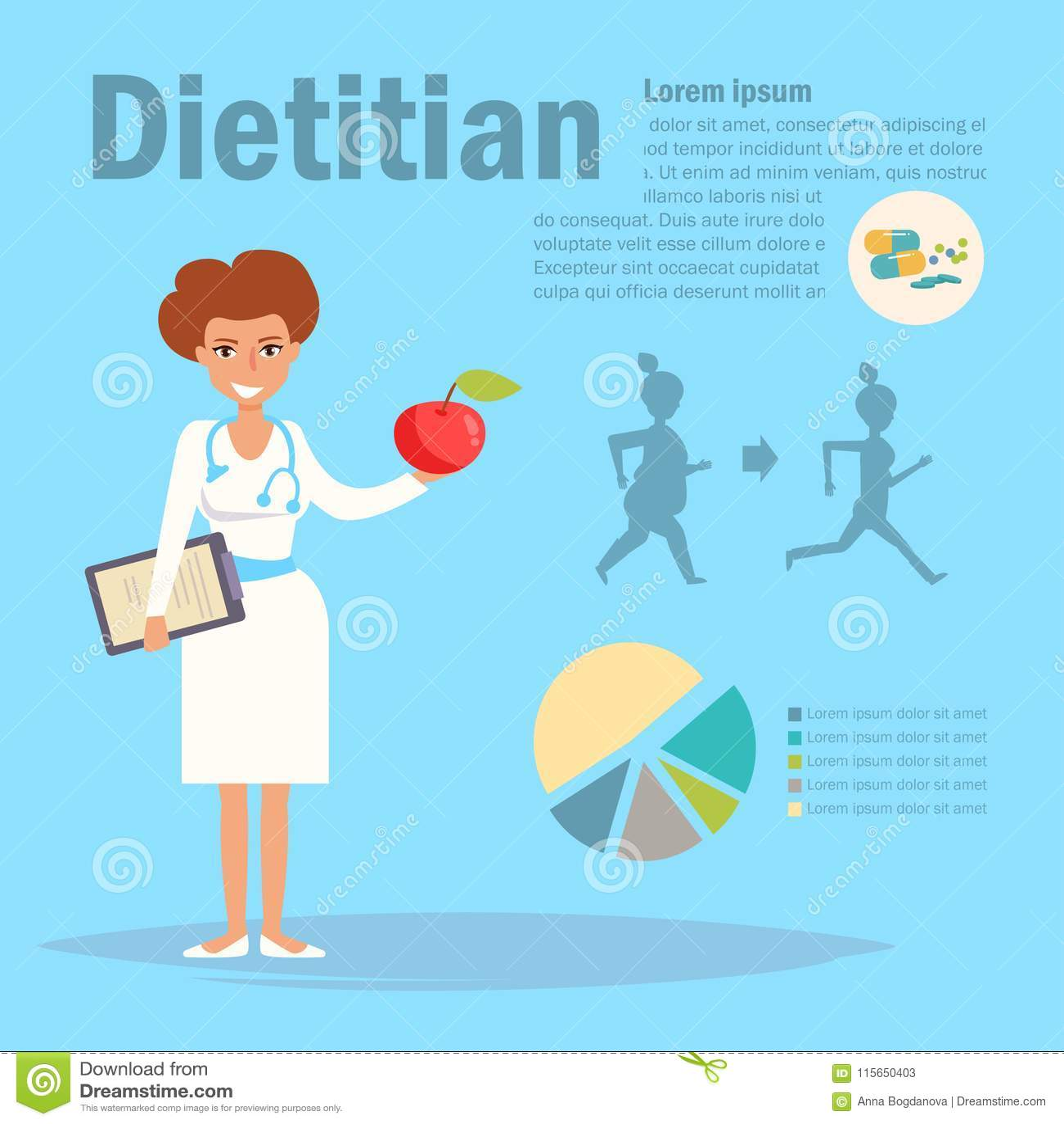 Dietitianvektor cartoon