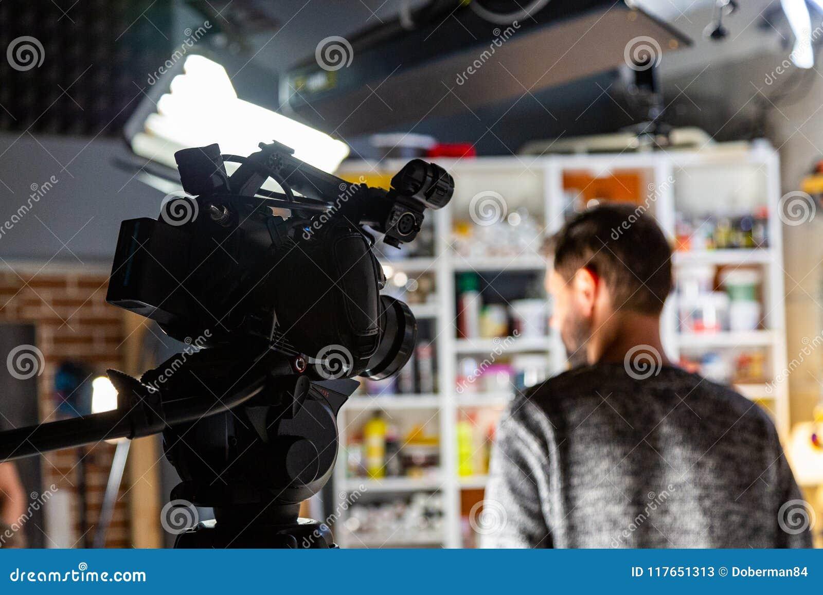 Dietro le scene di video fucilazione del video o di produzione