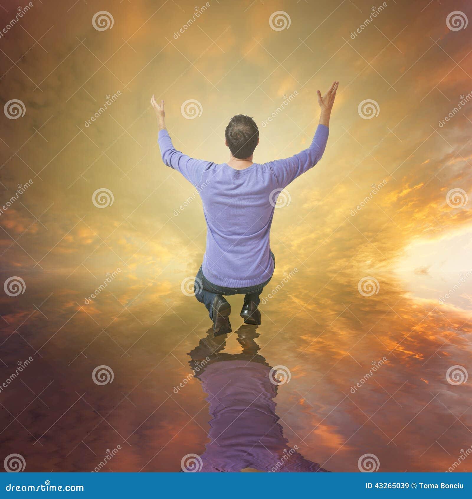 Dieu adorant d homme