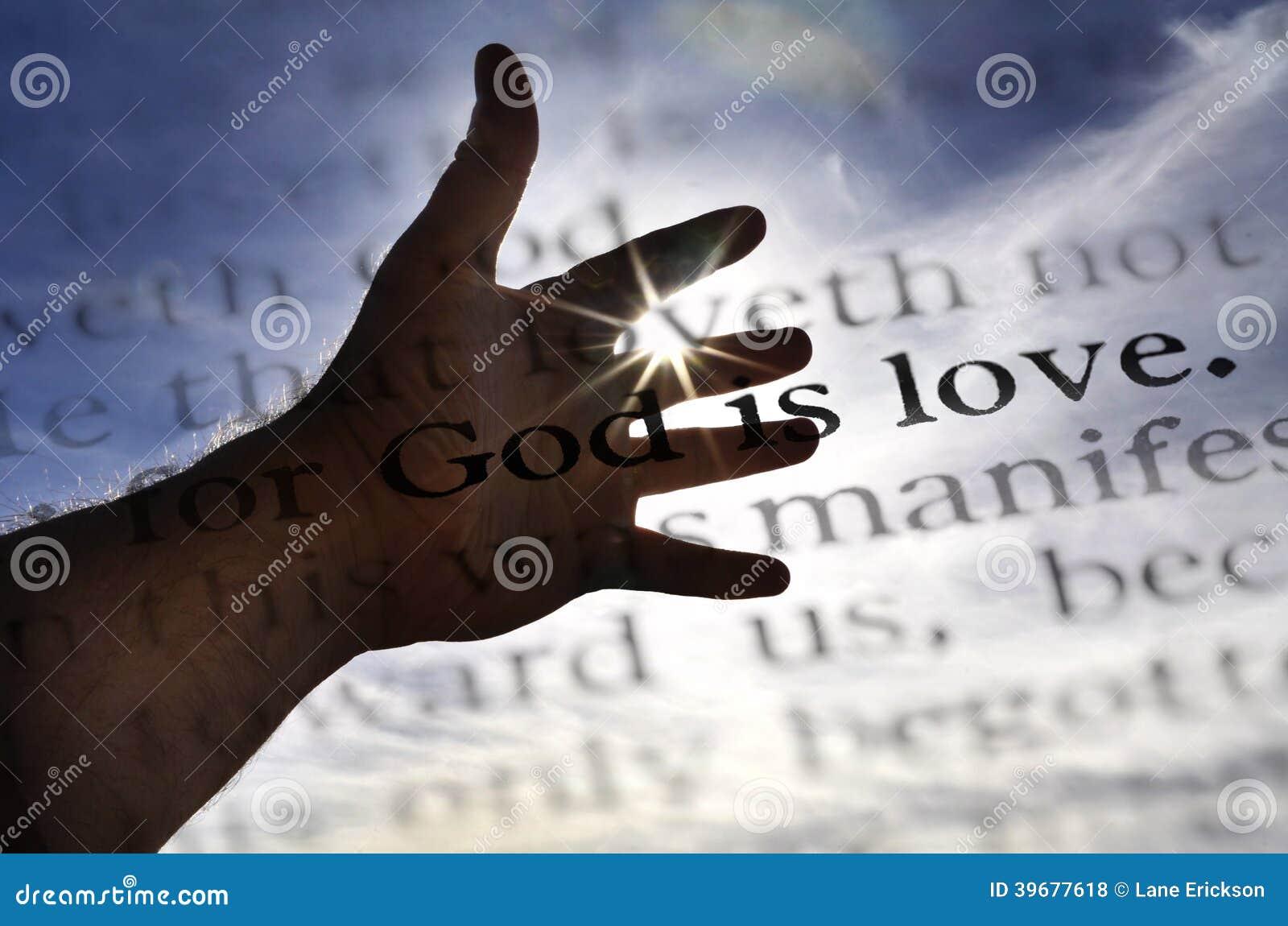 Dieu est écriture sainte d amour en bible