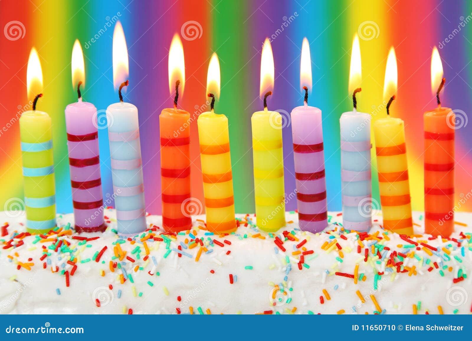 Diez velas del cumpleaños