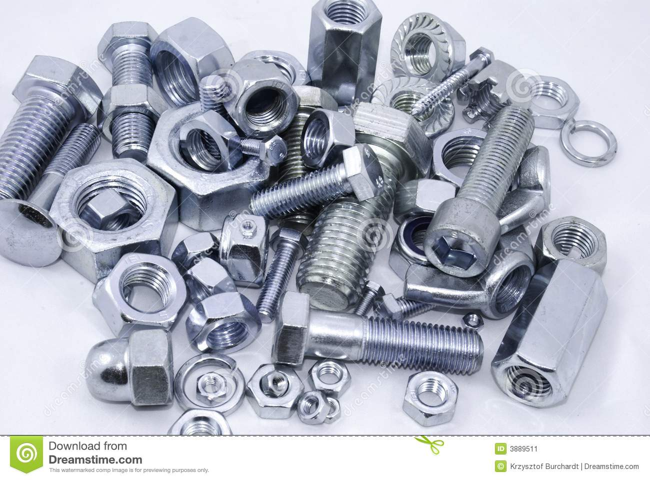 Diferent nuts and bolts