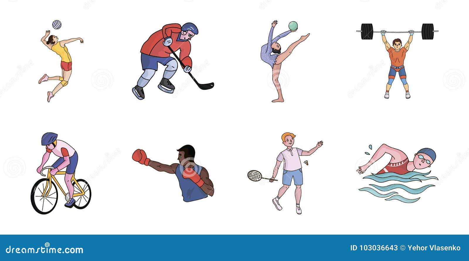 Deportes Diferentes Deportes: Diferentes Tipos De Iconos De Los Deportes En La