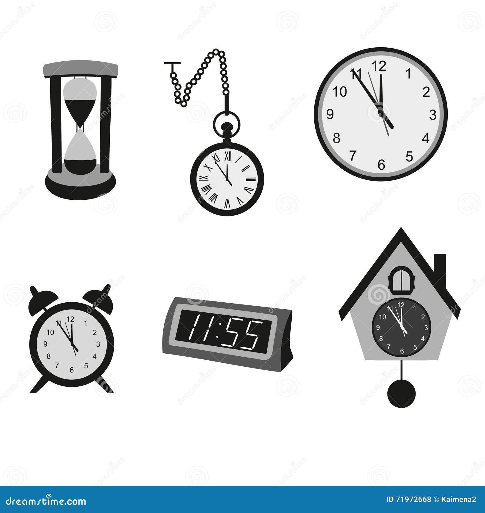 Diferentes tipos de relojes ilustraci n del vector - Tipos de relojes ...