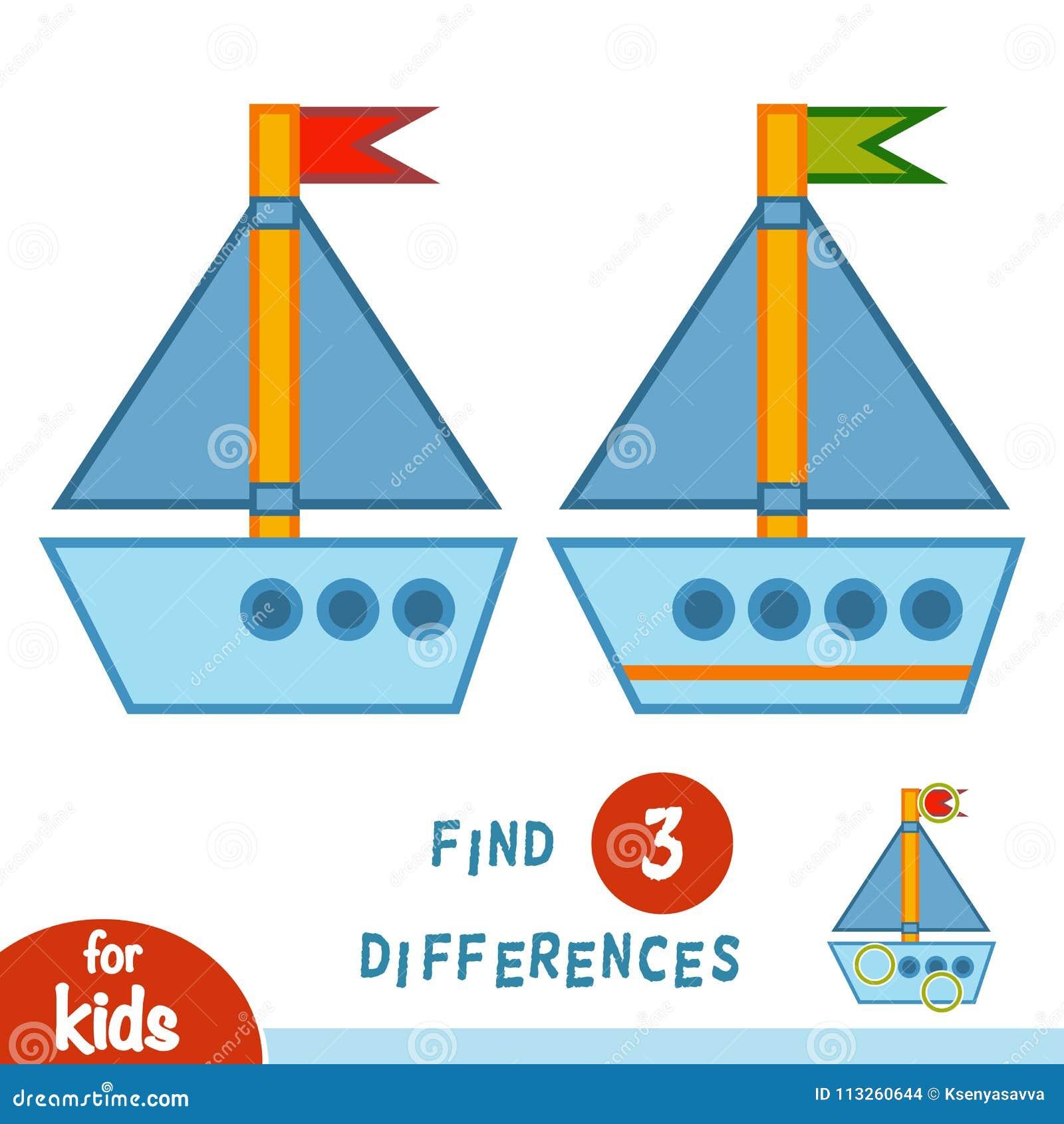 Différences de découverte, yacht