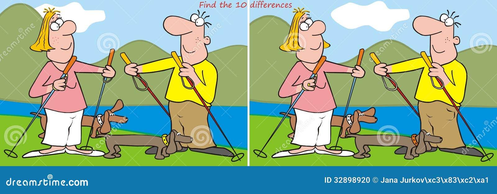10 différences - randonneur