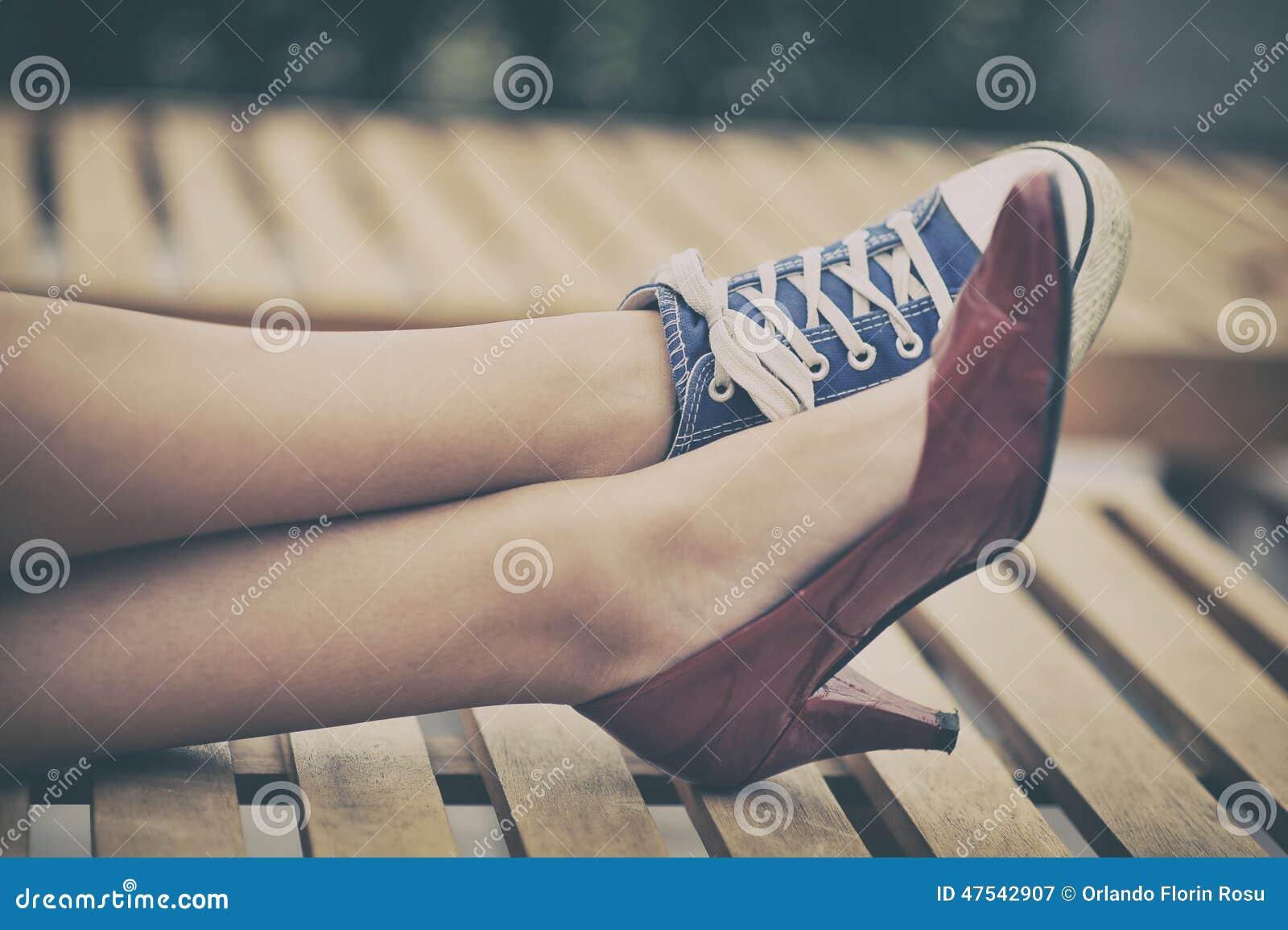 Différentes chaussures