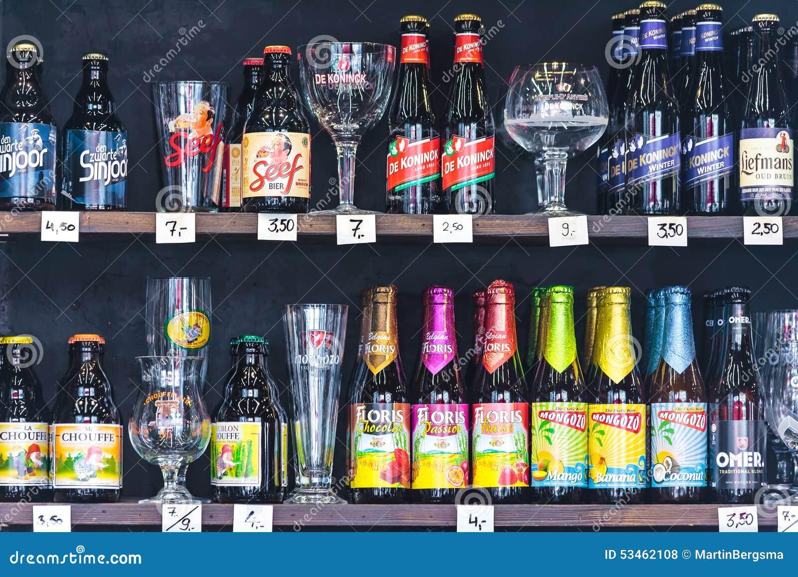 Diff rentes marques des bouteilles et des verres bi re for Differentes marques de tuiles
