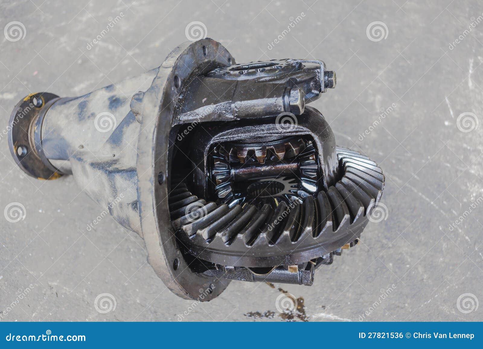 Différentiel d entraînement de véhicule cassé