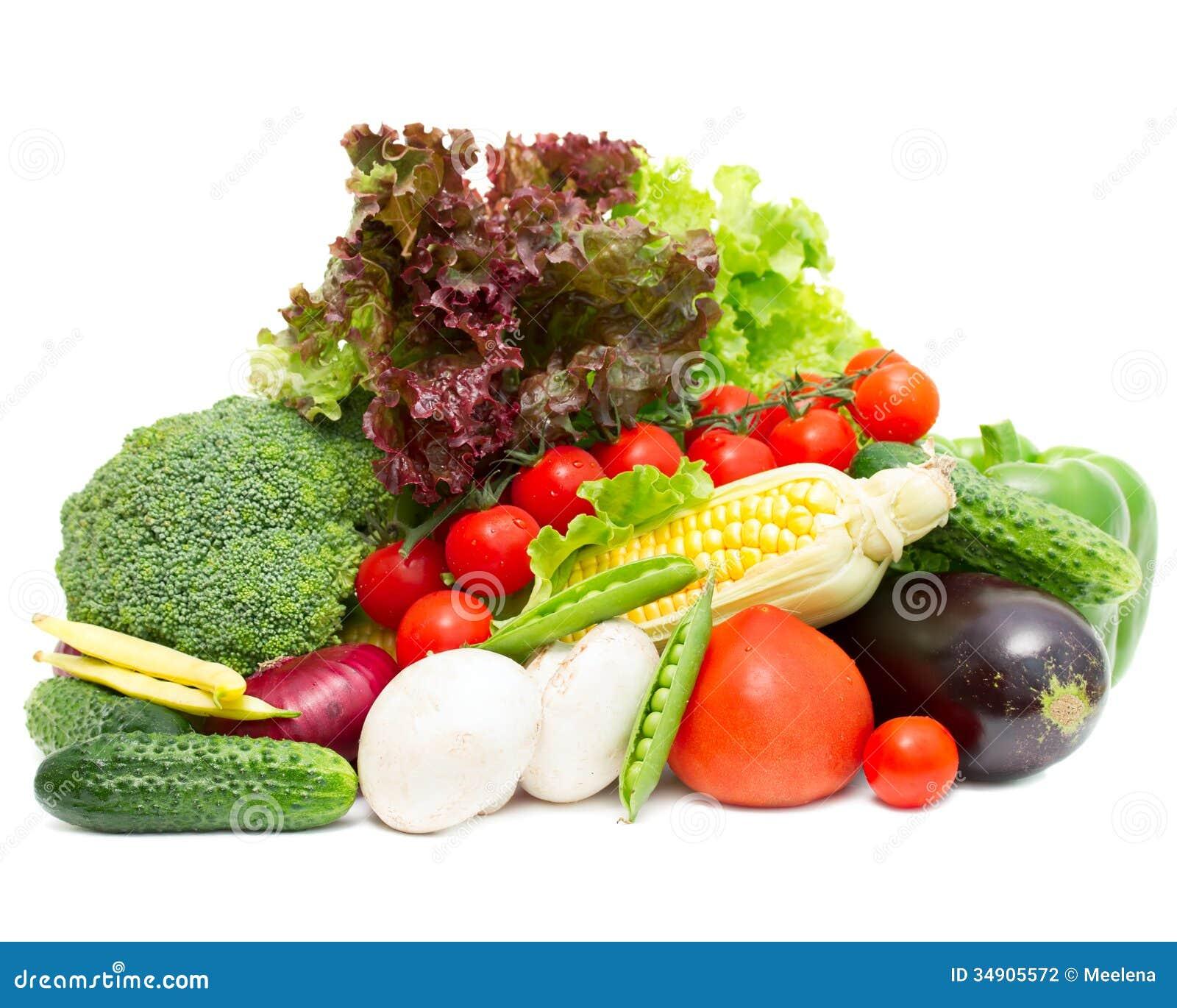 Différents légumes frais