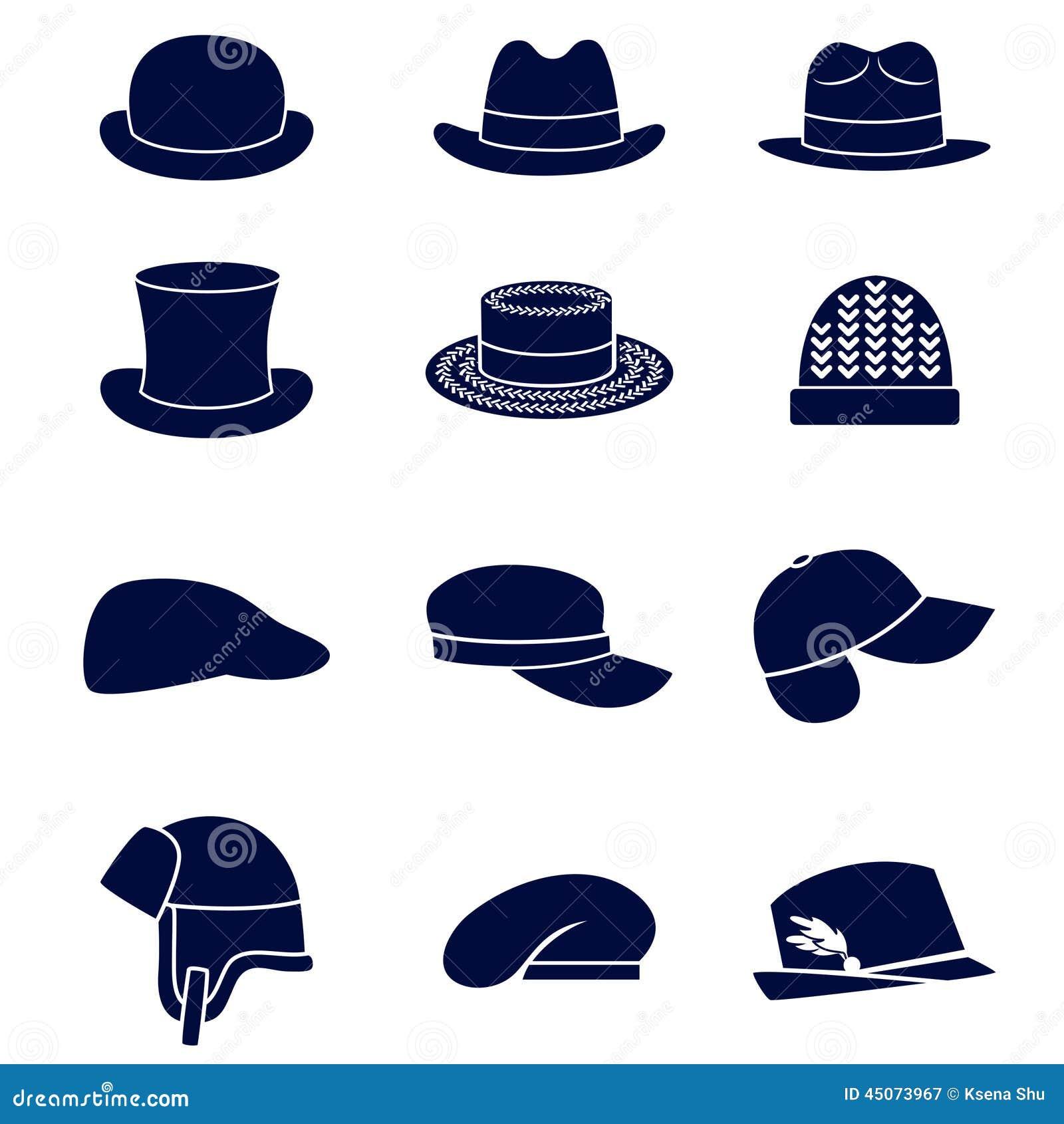 Diff rents types de chapeaux des hommes illustration de vecteur image 4507 - Differents types de ventilation ...