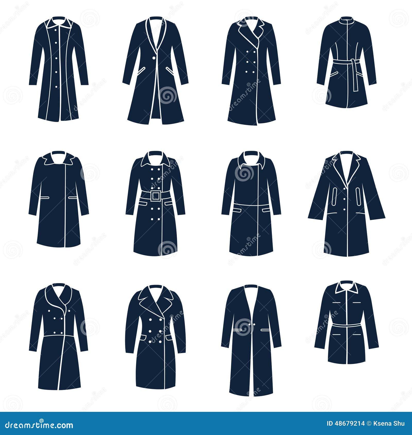 Différents Manteaux Types Femmes Vecteur De Illustration gqg4nrTc