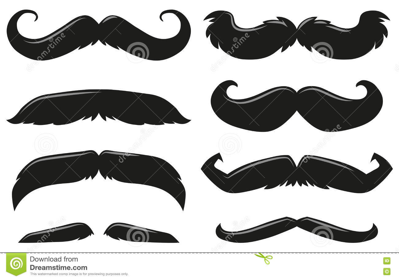diff rents types de moustache illustration stock image 78708086. Black Bedroom Furniture Sets. Home Design Ideas