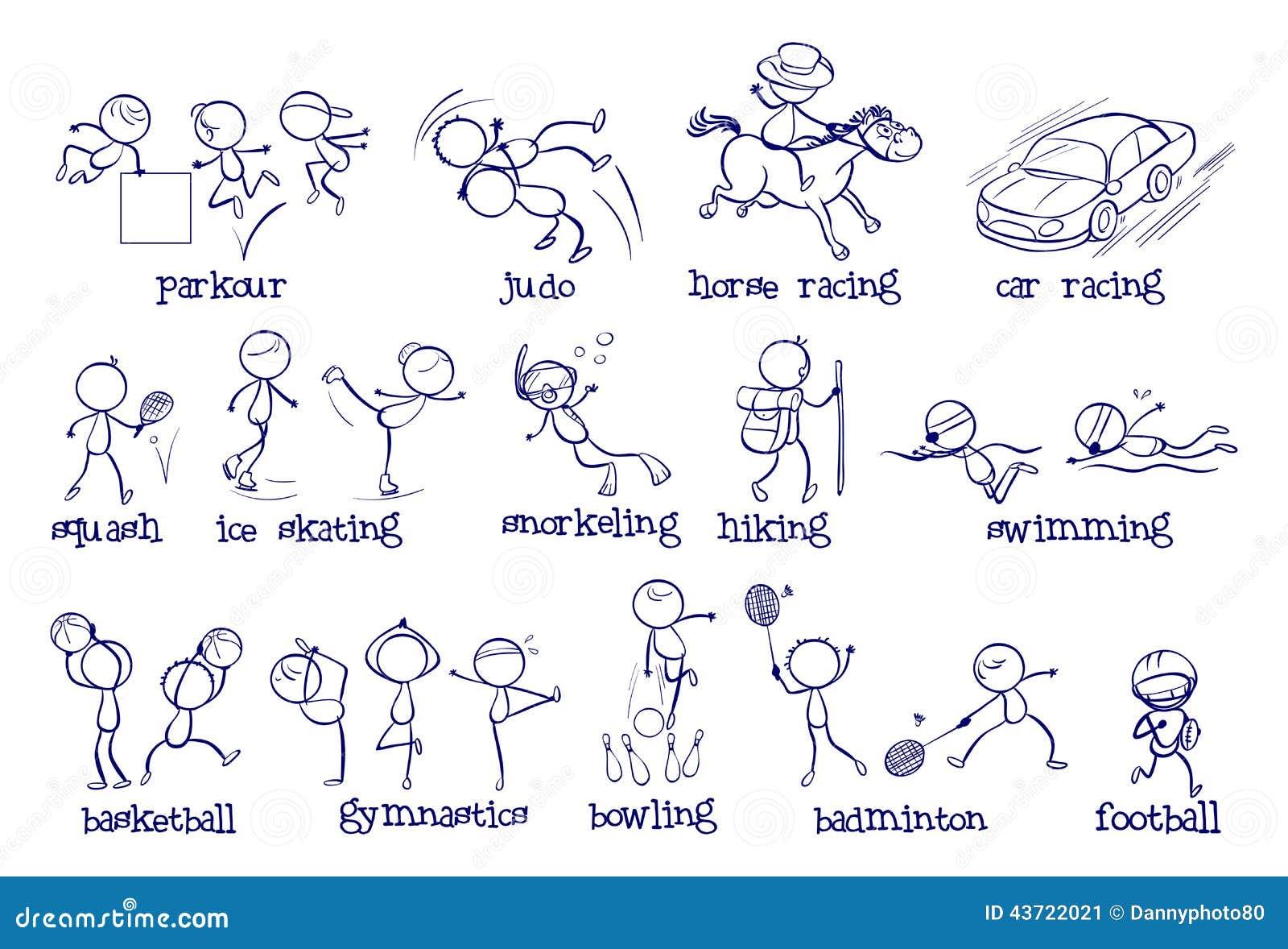 Diff rents types de sports illustration de vecteur image - Differents types de poubelles ...