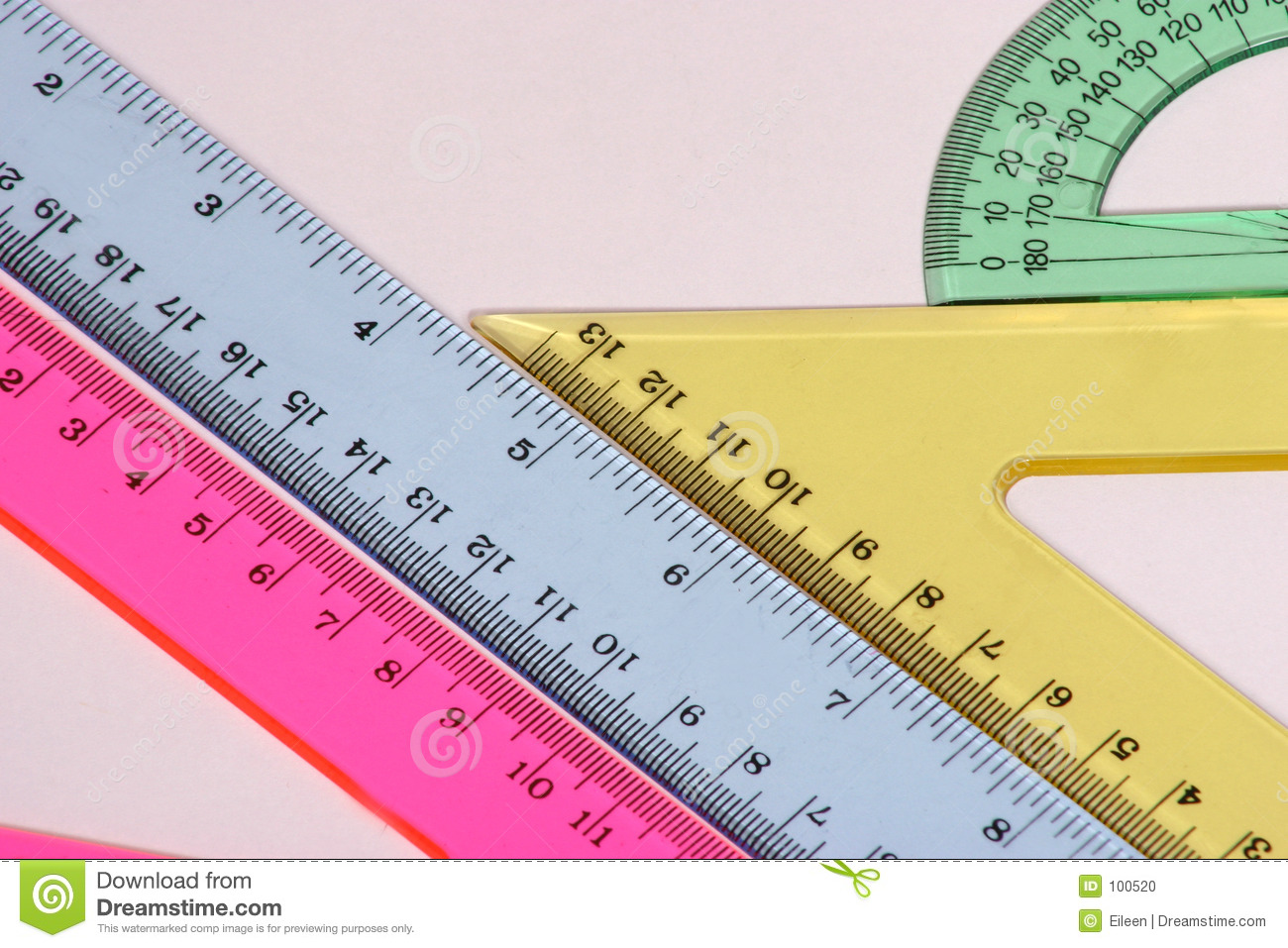 Time Measuring Instruments : Different angles stock photo image of inch metric ruler