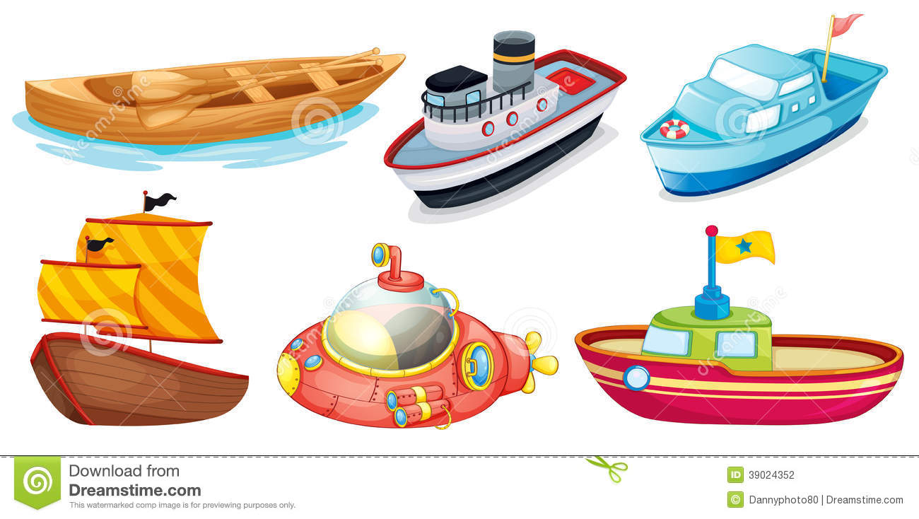 different boat designs stock vector illustration of group 39024352