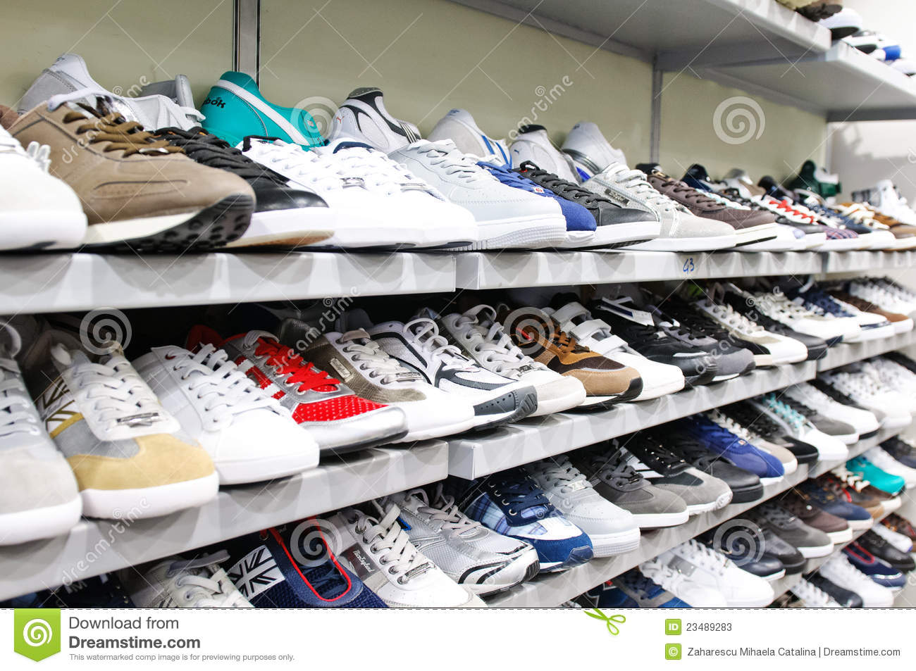 top design popular stores catch Different Brands Of Sport Shoes Editorial Stock Photo ...