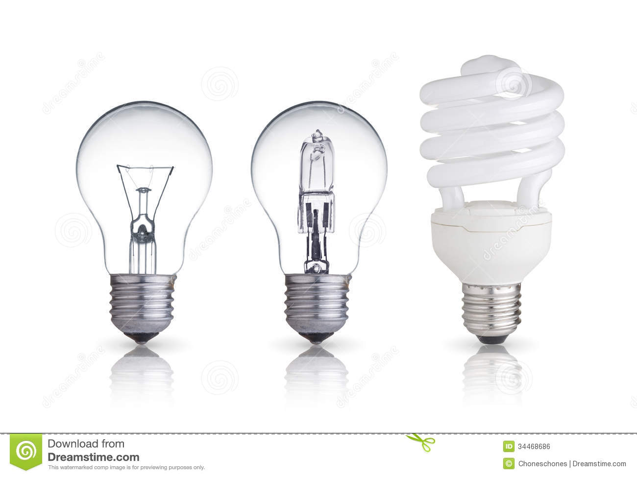 Different Bulbs Royalty Free Stock Image Image 34468686