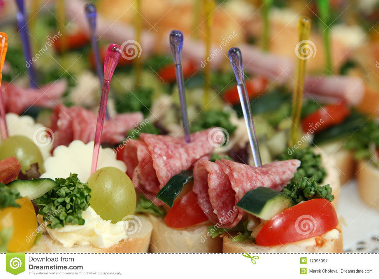 Different canapes royalty free stock photography image for Canape 4 kinds