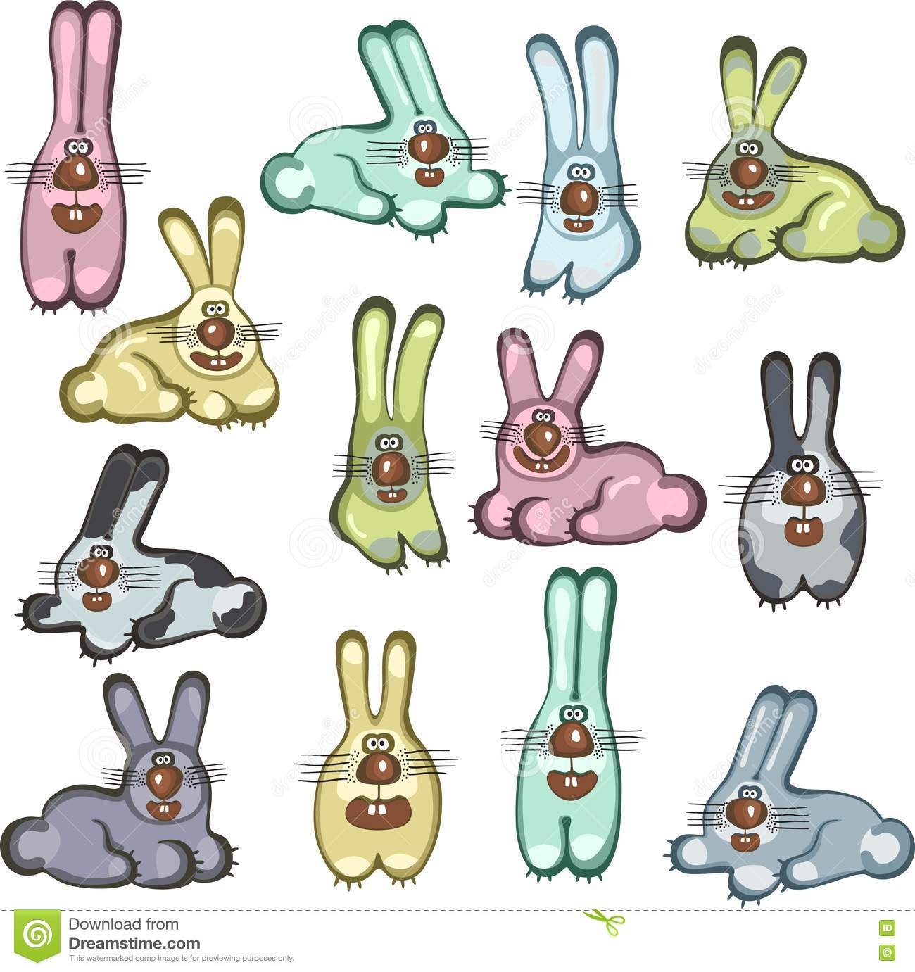 Cartoon Rabbit Images amp Stock Pictures Royalty Free